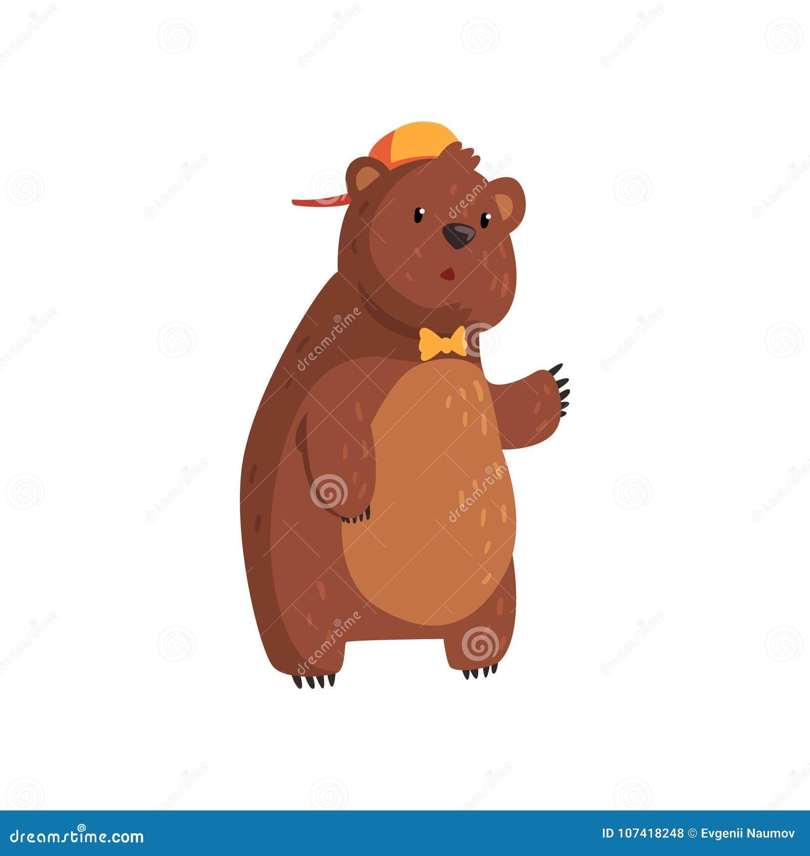 Condizione teenager dell orso isolata su bianco personaggio dei