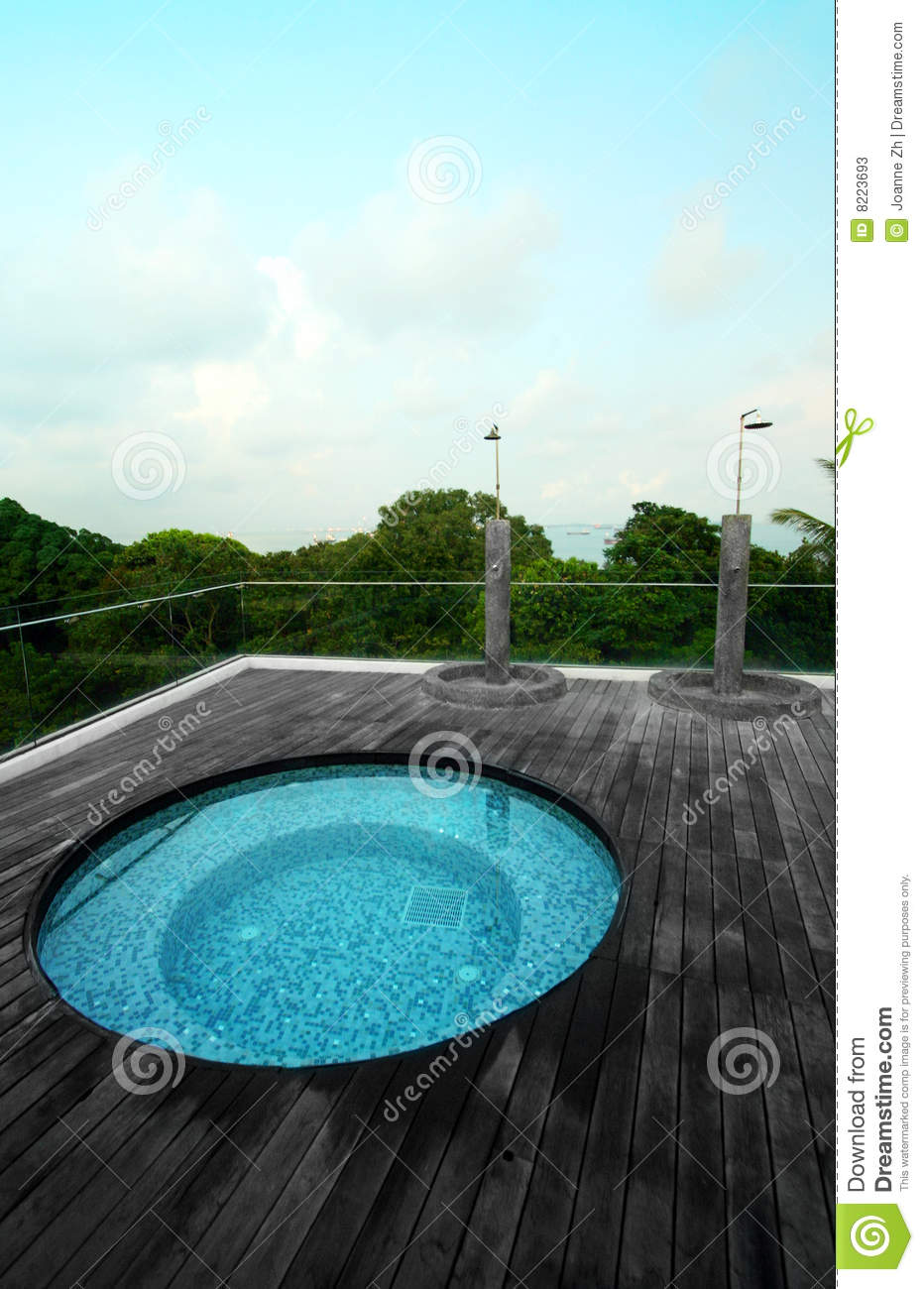 Condo Roof Top Jacuzzi Pool Stock Photos Image 8223693