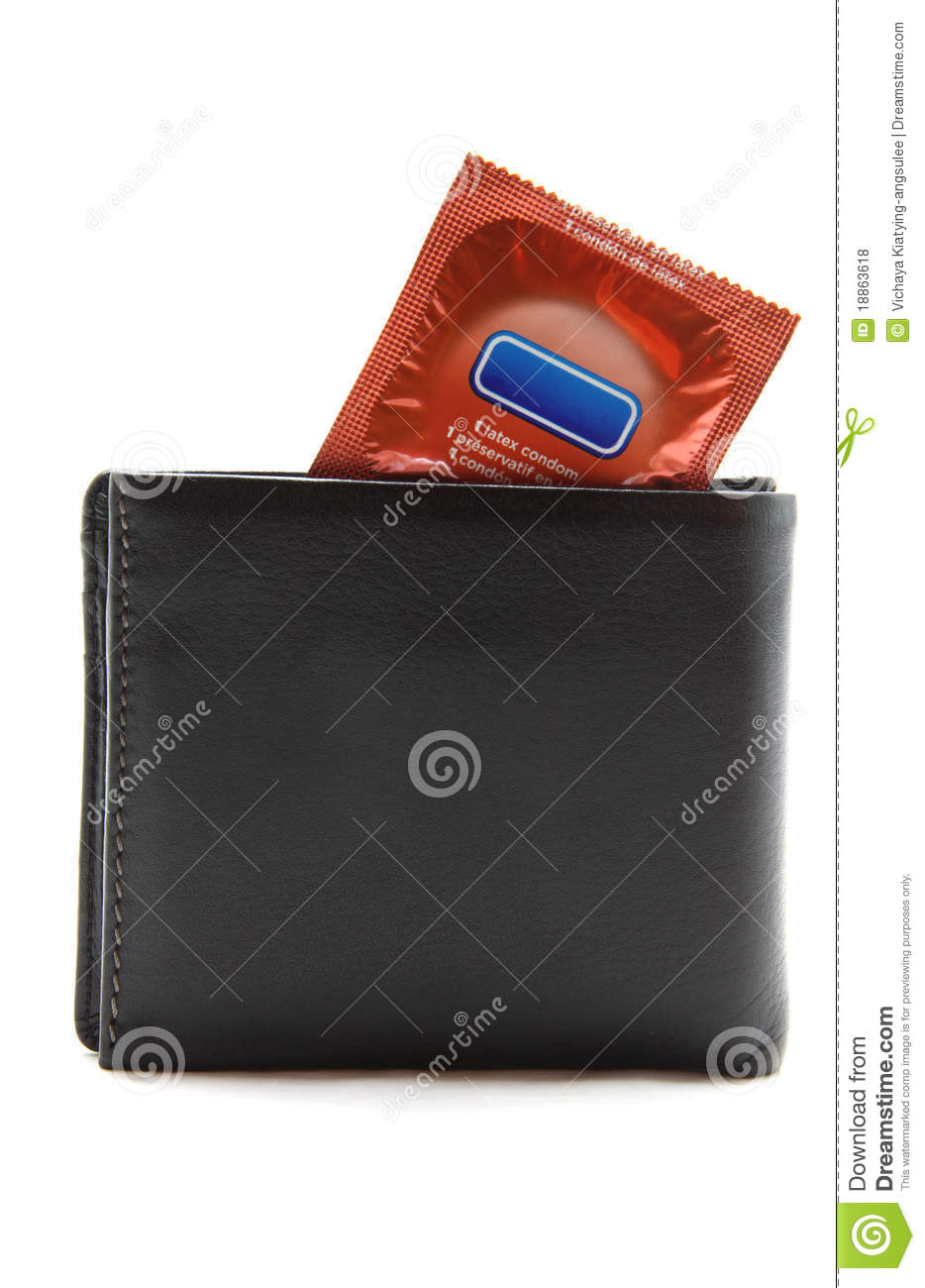 condom in a wallet selected sharp