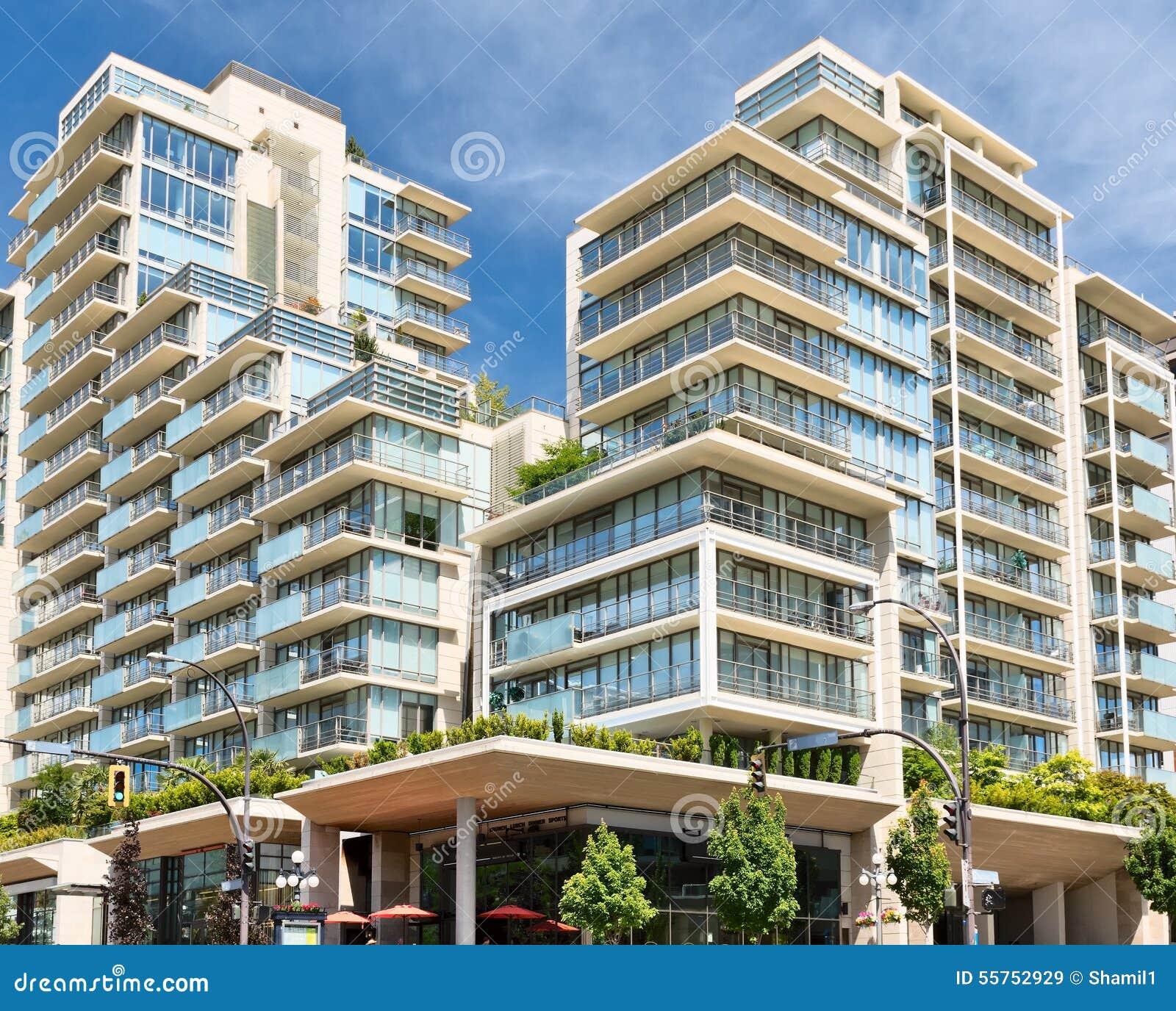 Condo Apartment: Condominium Or Apartment Building Stock Image
