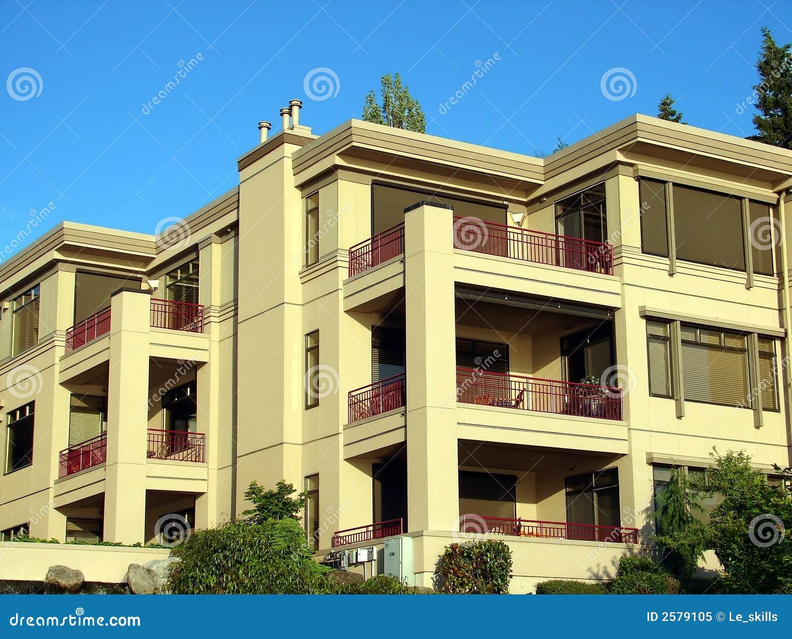 condominium apartment complex royalty free stock photo