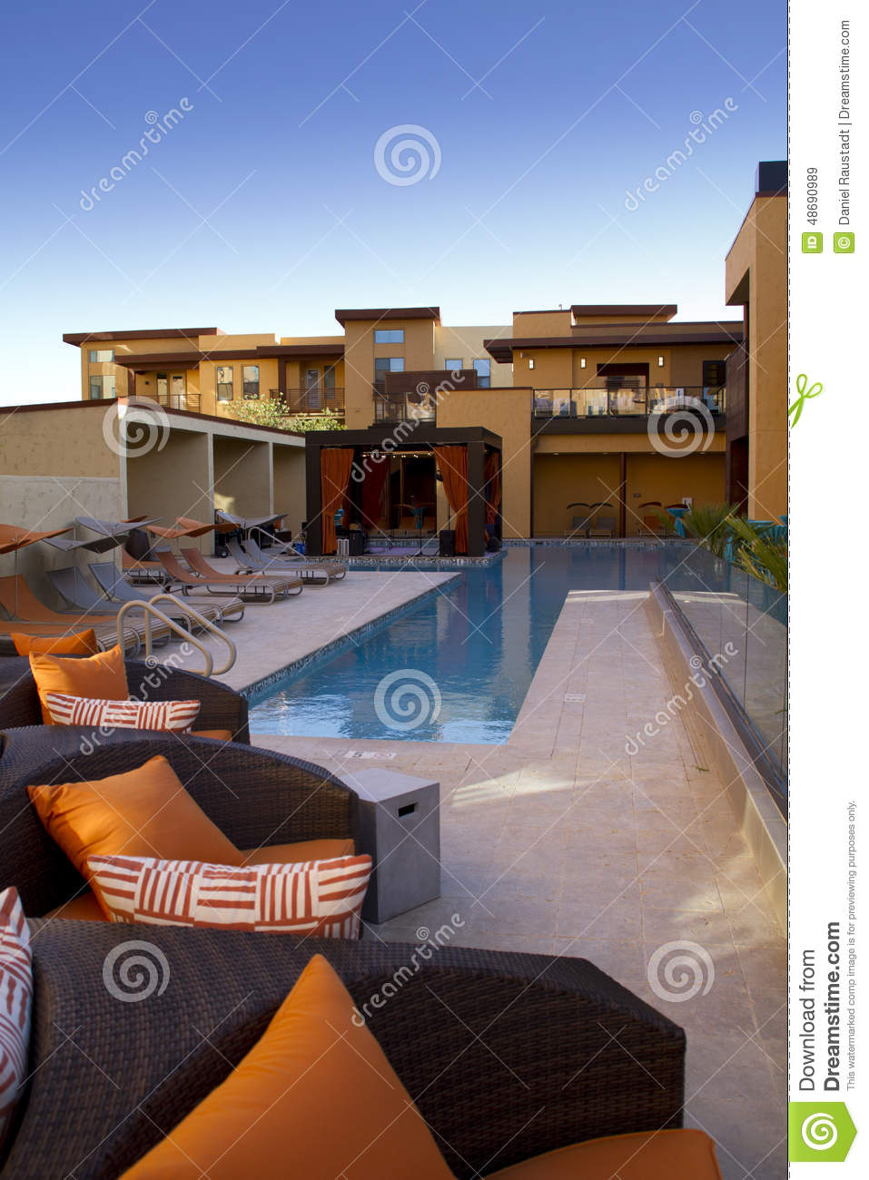 Condominium Homes Outdoor Plaza Patio And Pool Stock Photo - Image ...