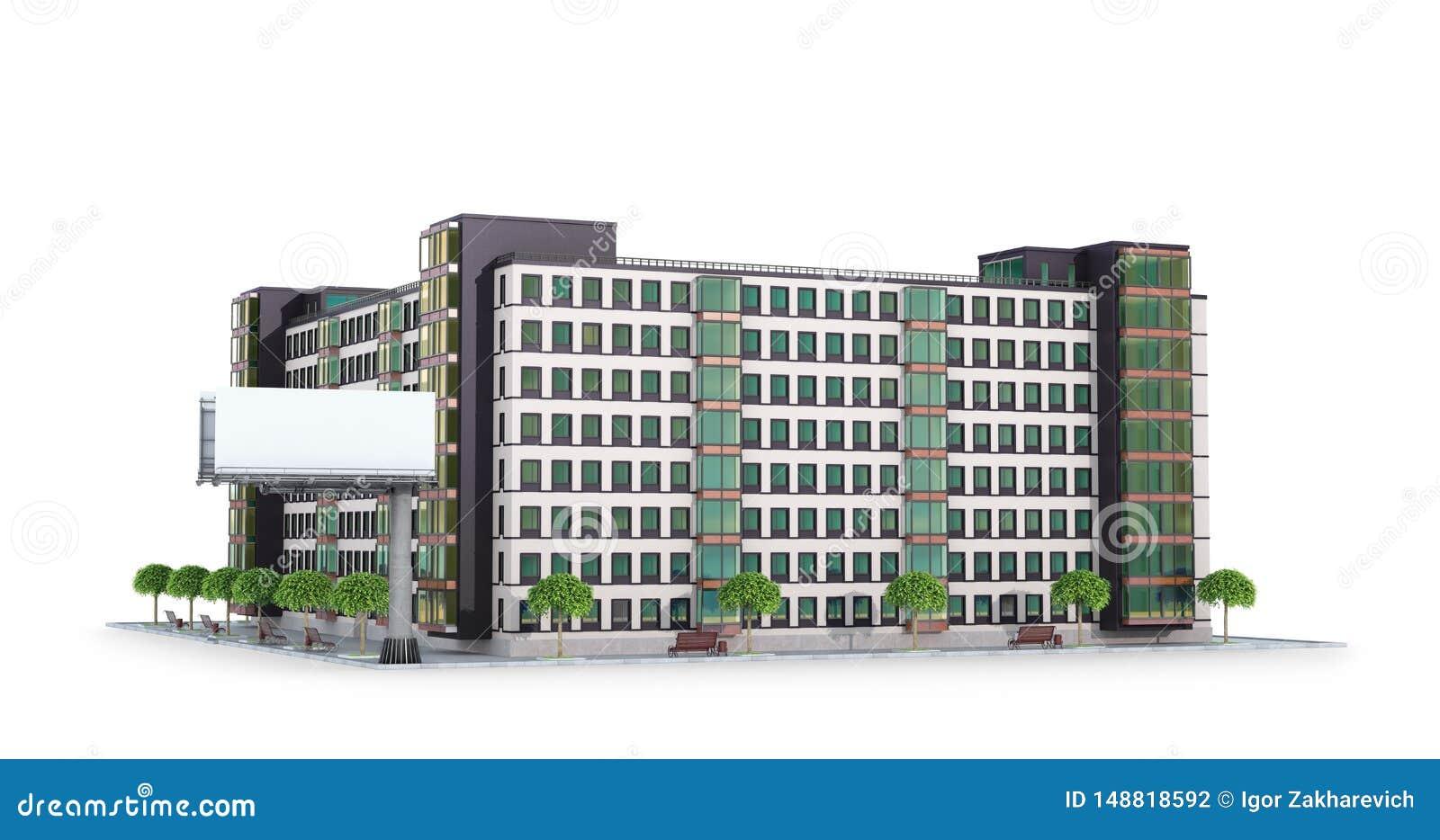 Condominium or modern residential building.