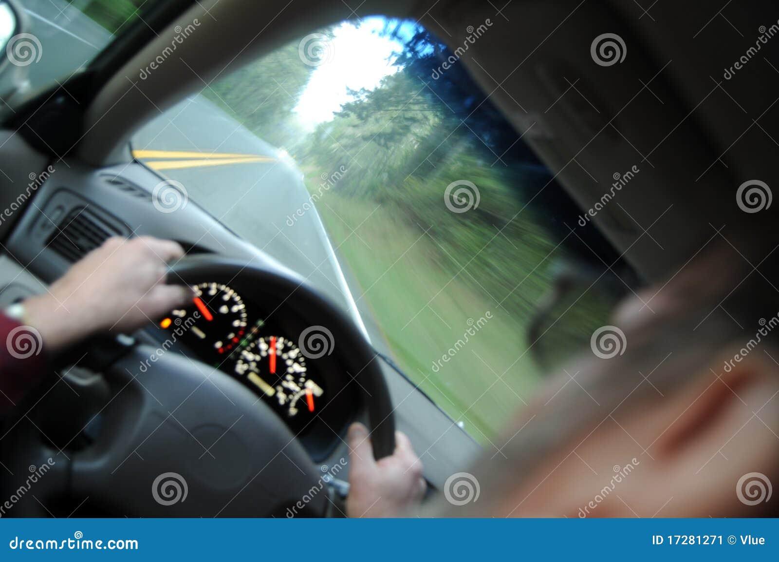 Condução dentro de um carro