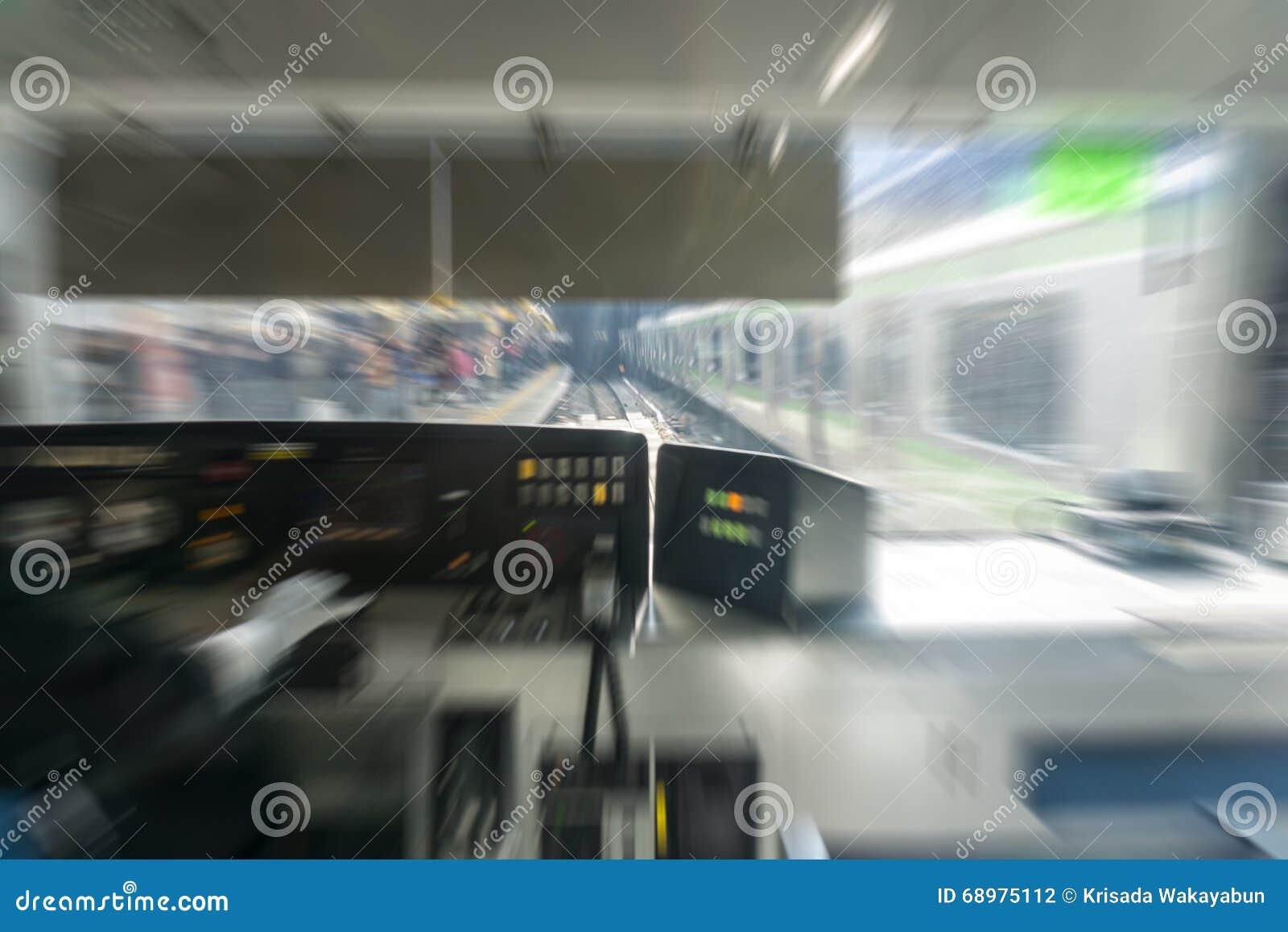 Conductor de tren en empañado