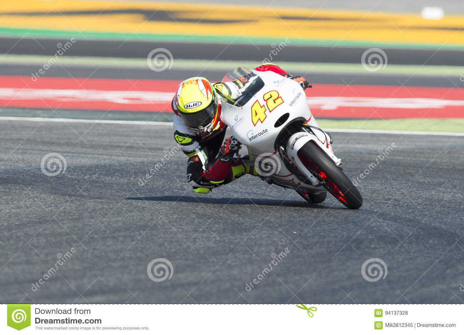 Conductor Marcos Ramirez Equipo Del Platino Moto3 Energía Grand Prix ...
