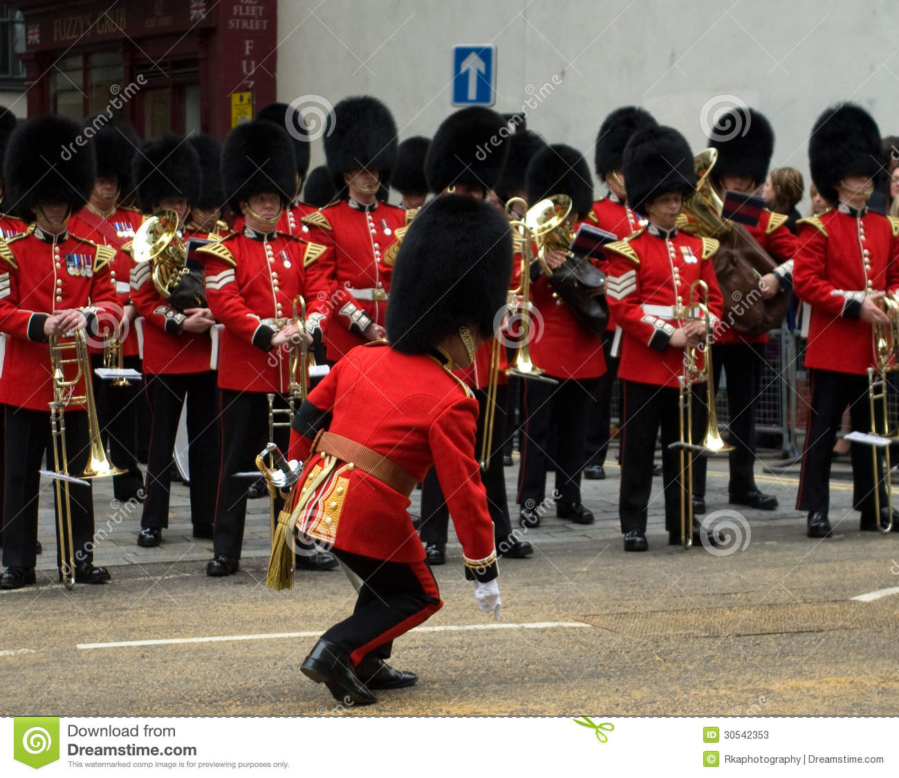 the conductor of the welsh guards band editorial stock funeral clip art free funeral clip art of a saw and hammer