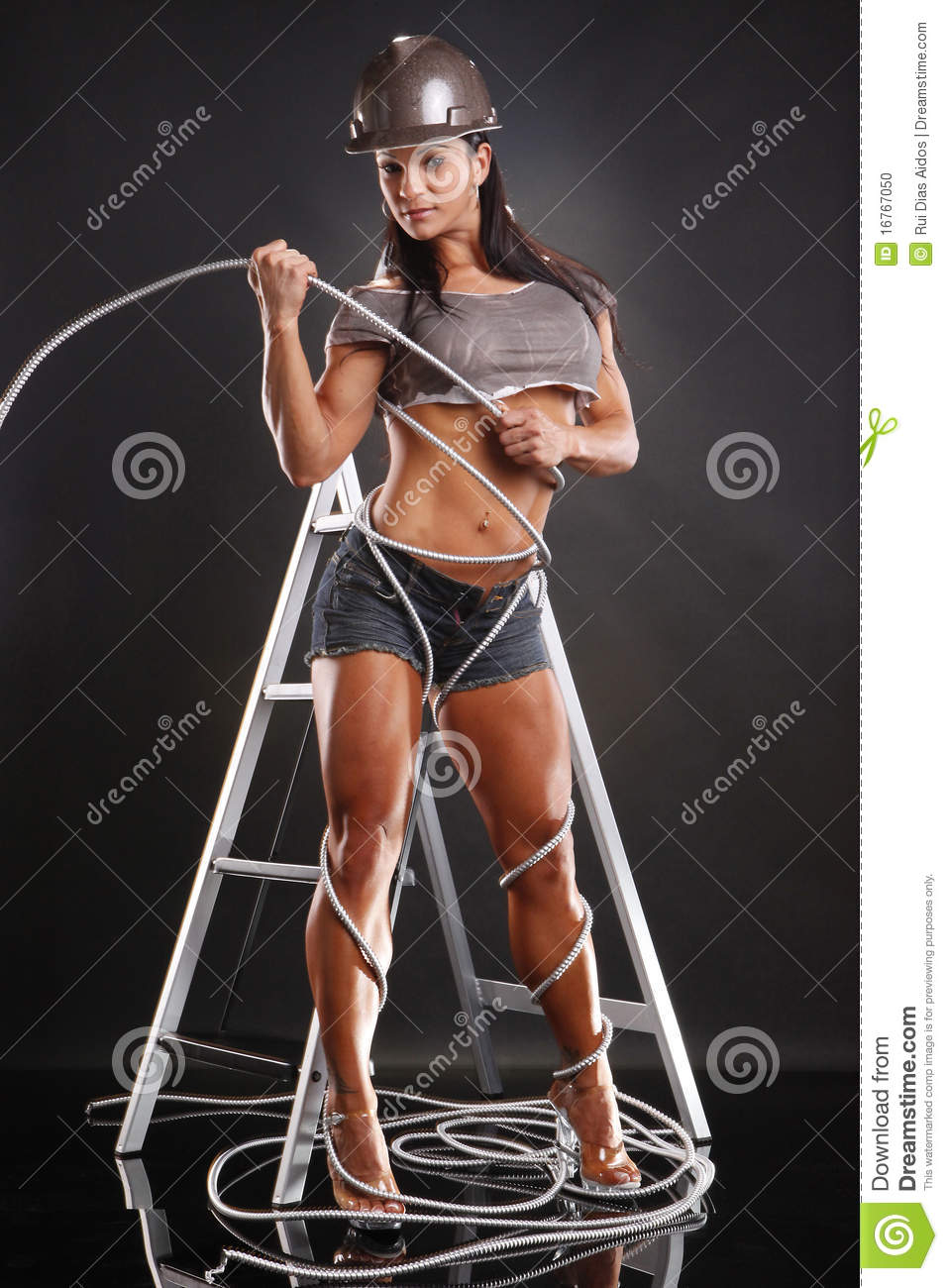 Conduit Stock Photo Image Of Muscular Home Hispanic 16767050 Wiring In A Little Entangled With Wire