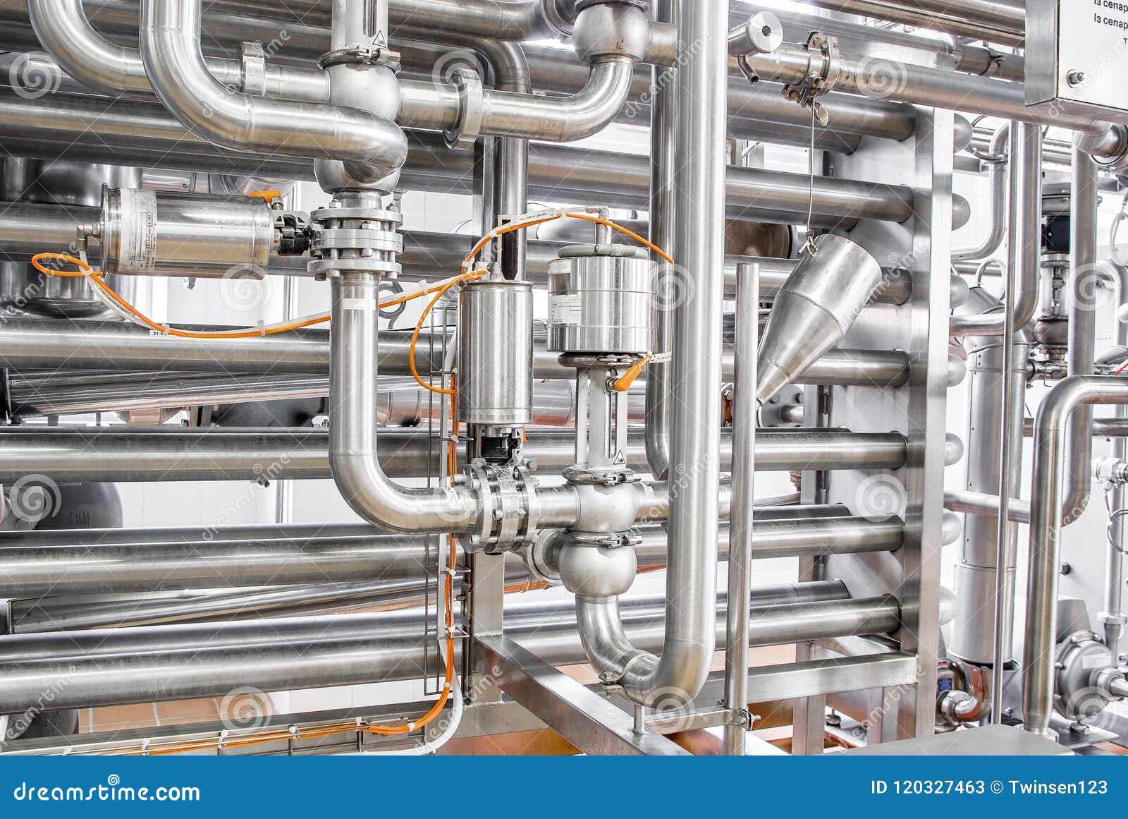 Condutture da acciaio inossidabile, un sistema per i liquidi di pompaggio o