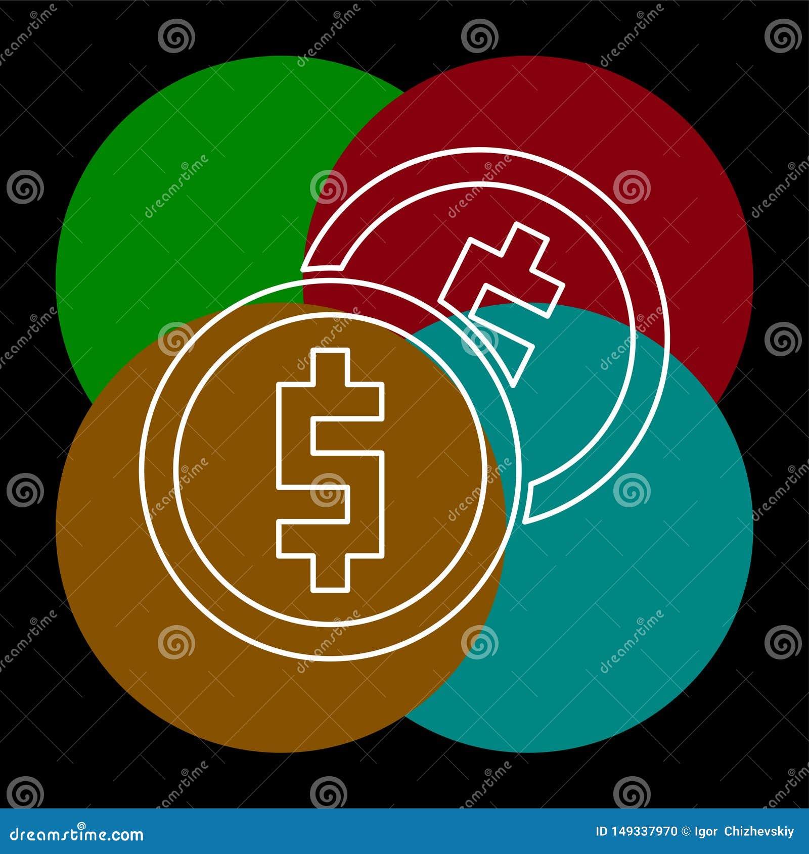 ?cone do dinheiro do vetor Sistema de pagamento