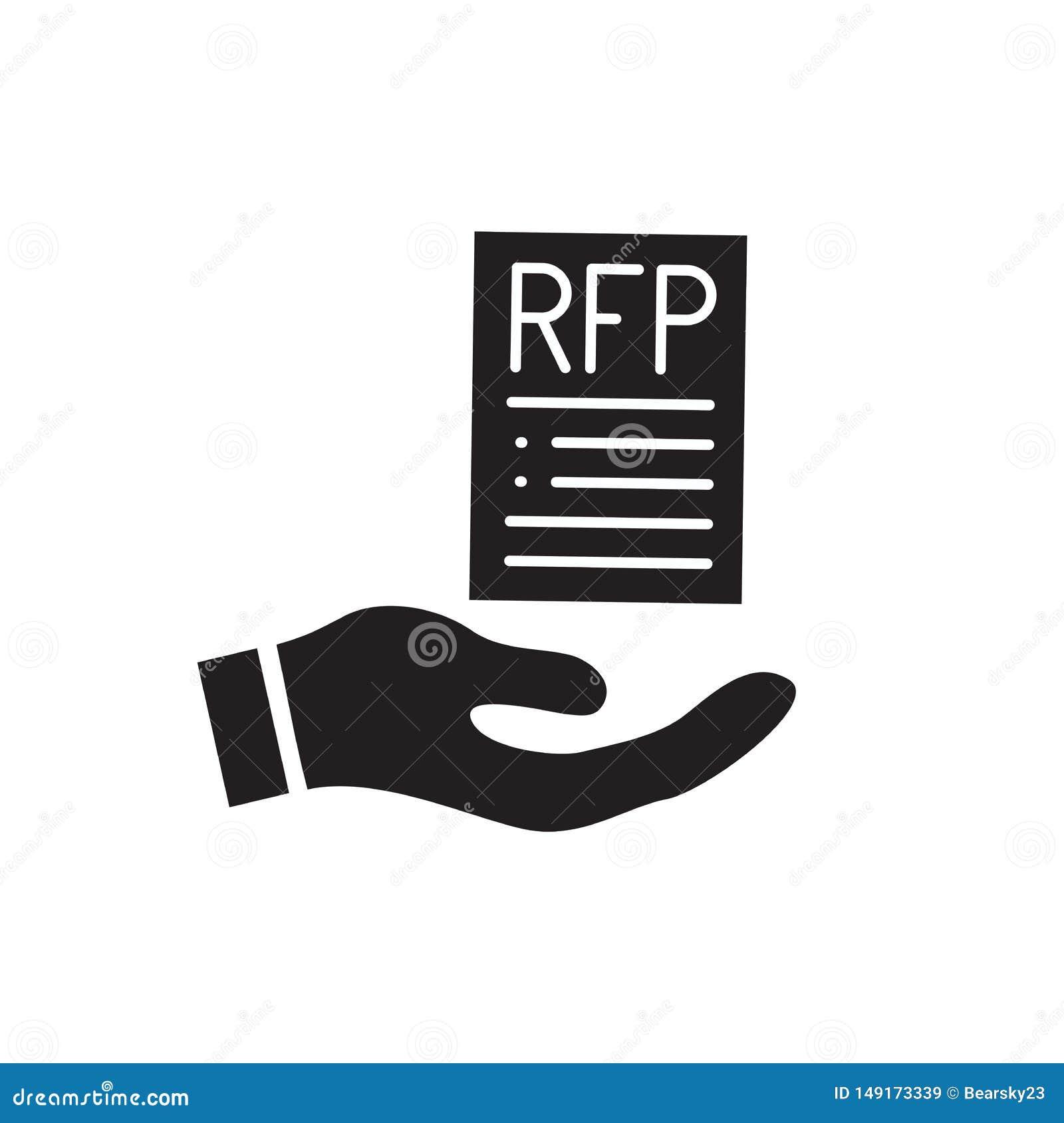 ?cone do RFP - conceito ou ideia do pedido de propostas