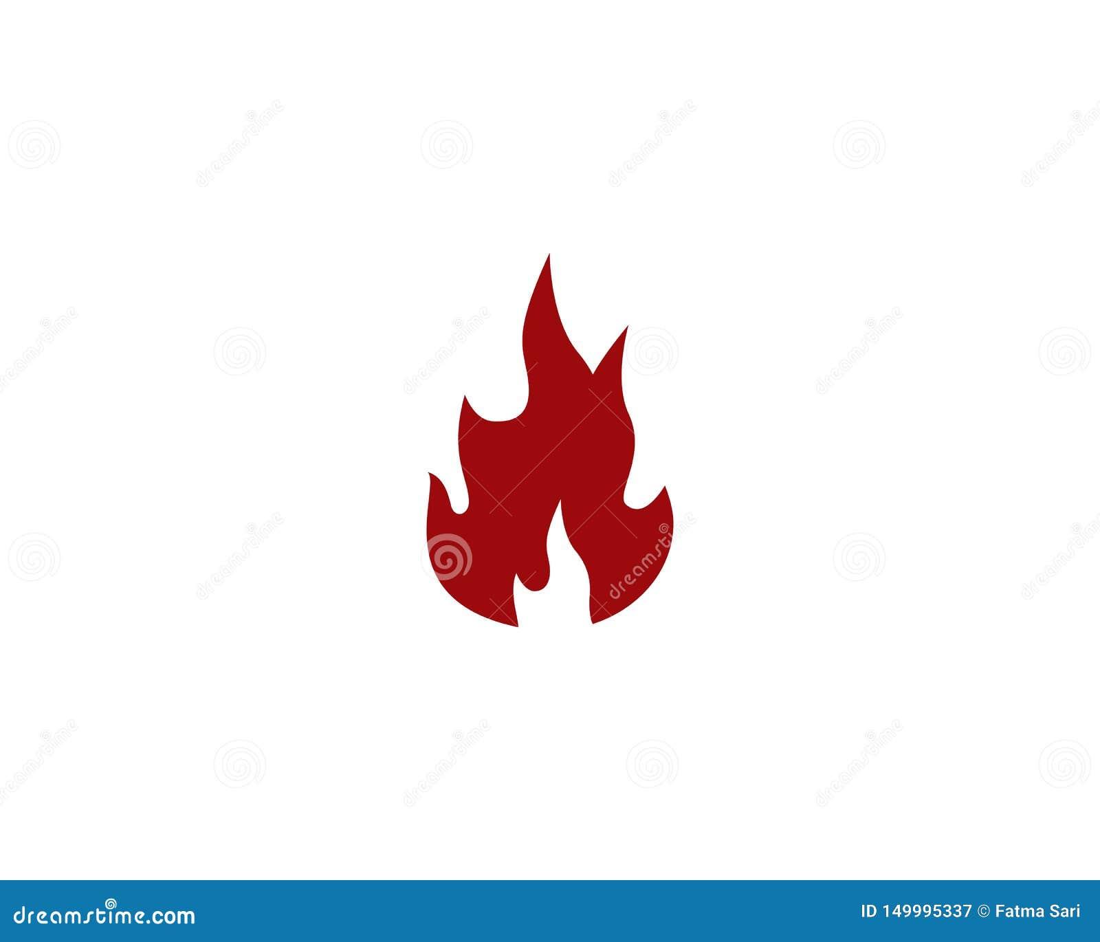 ?cone do vetor de Logo Template da chama do fogo
