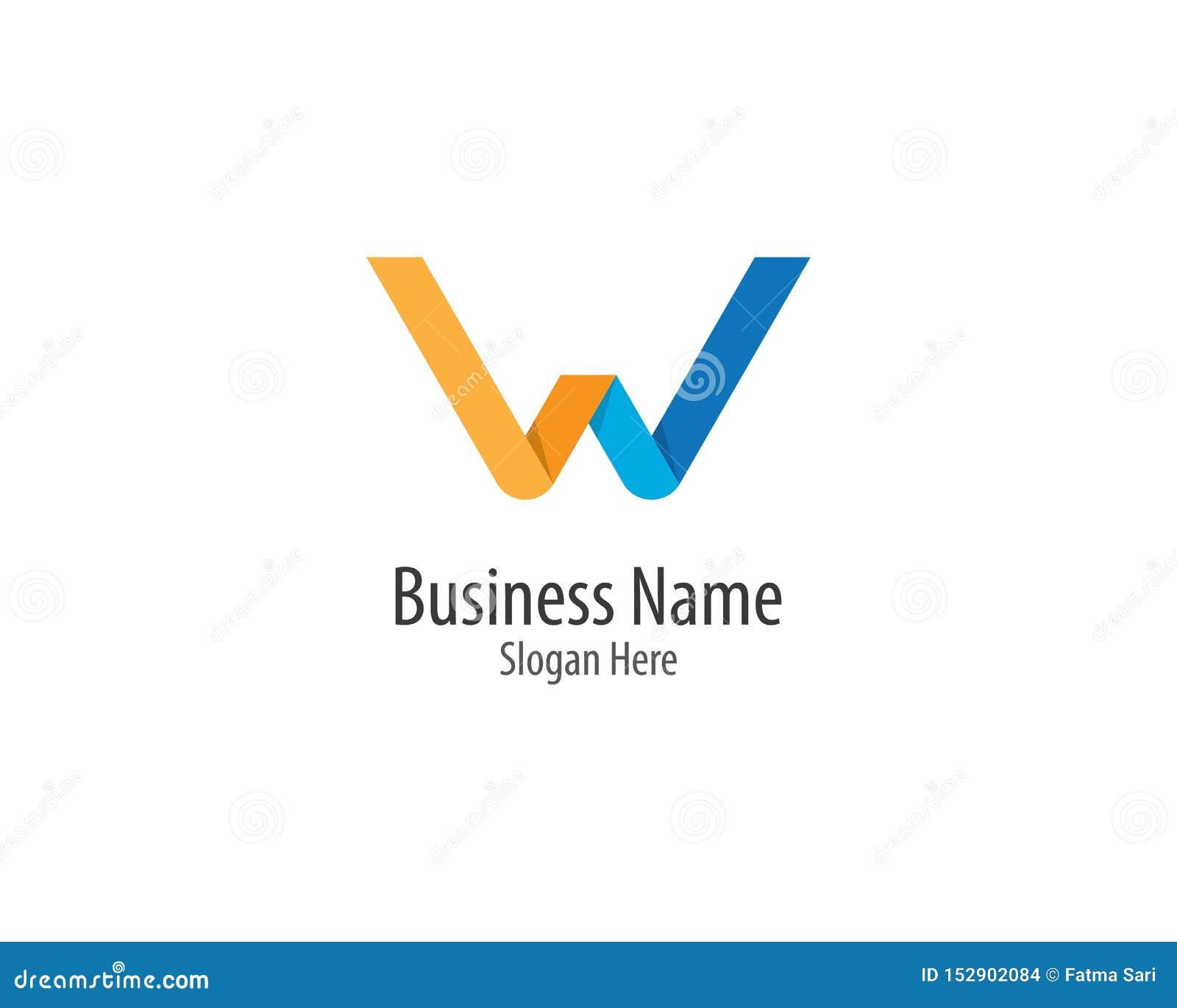 ?cone do vetor do logotipo da letra de W