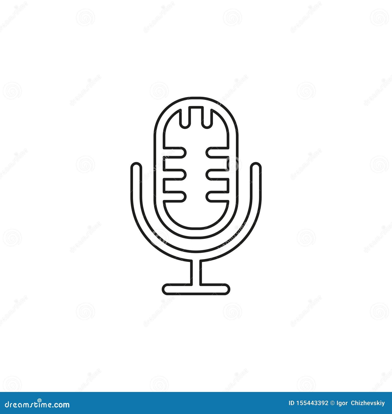 ?cone do vetor do microfone