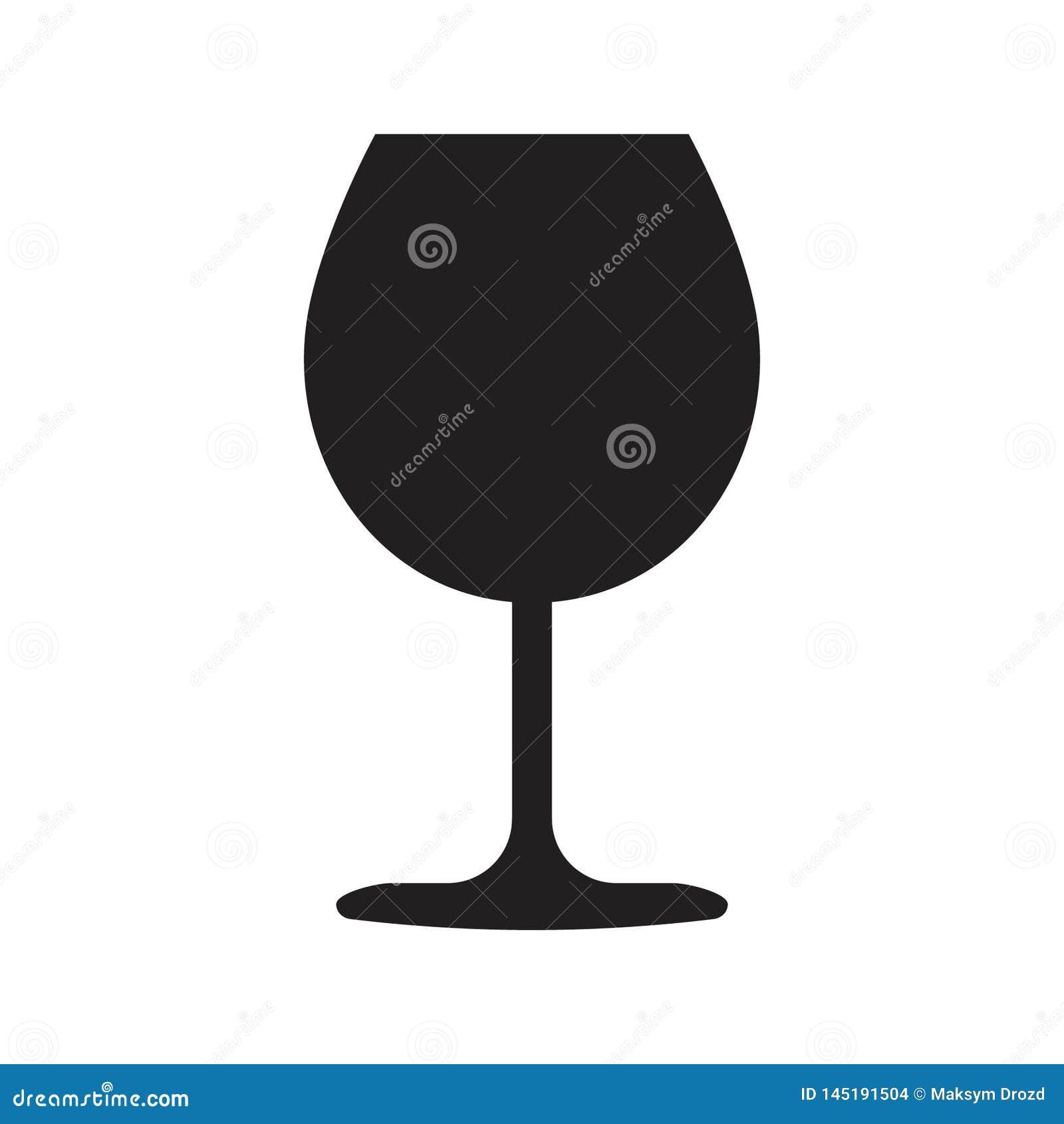 ?cone do vidro de vinho