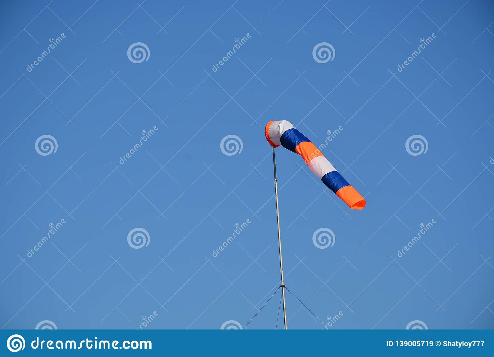 Cone fabric intended to indicate the direction and approximate wind velocity