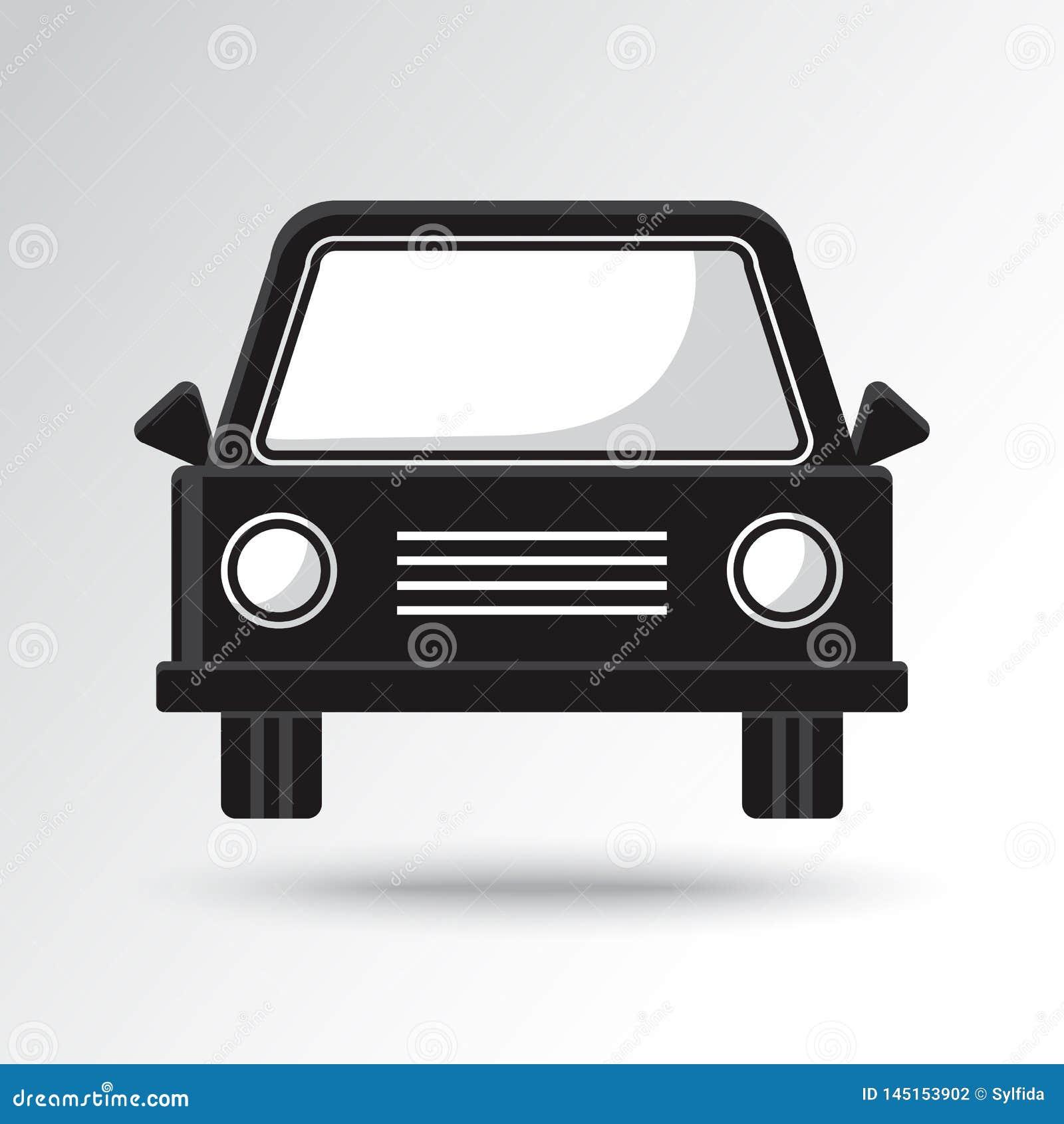 ?cone preto e branco do carro Ilustra??o do vetor