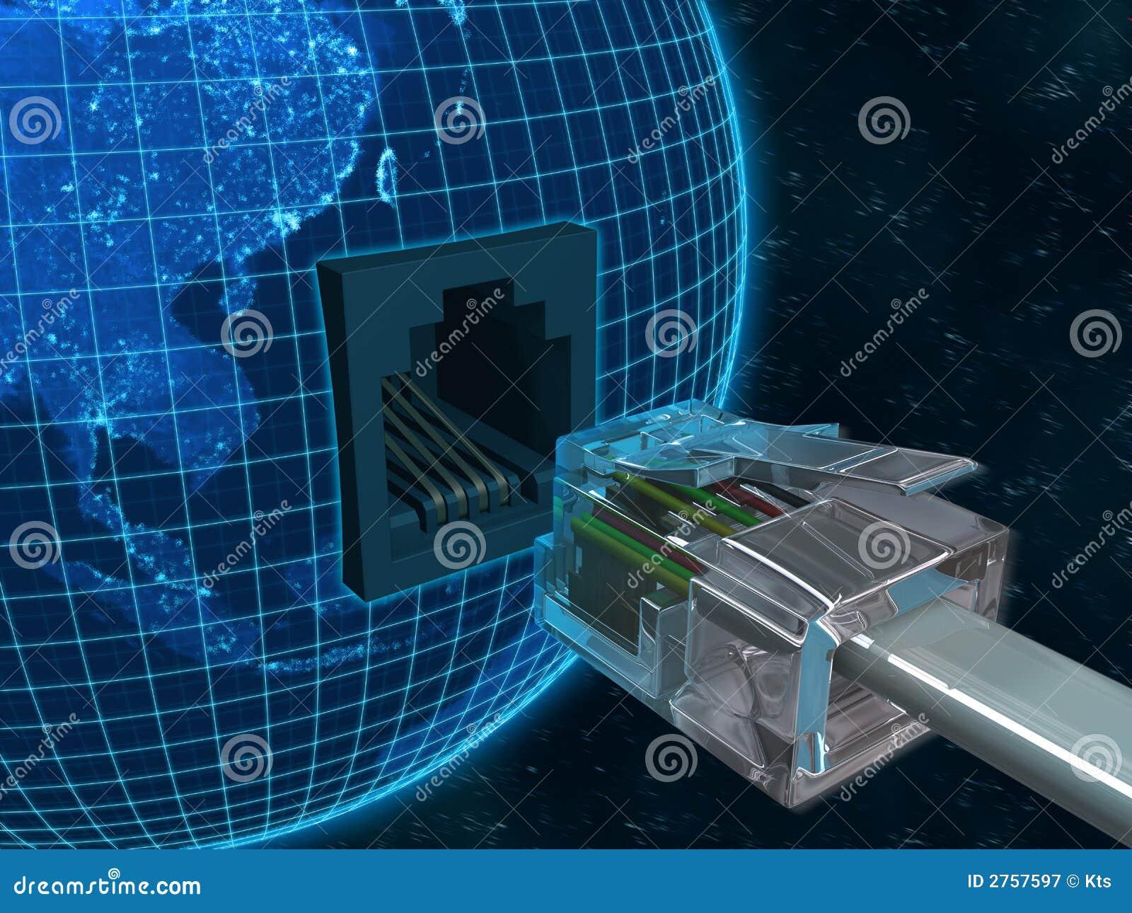 Conecte la tierra del planeta