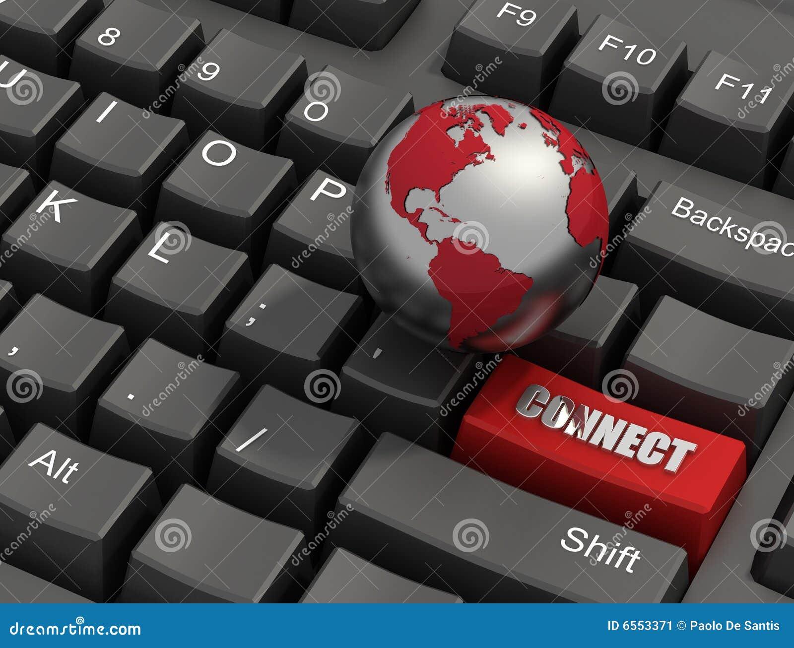 Conecte a tecla em um teclado