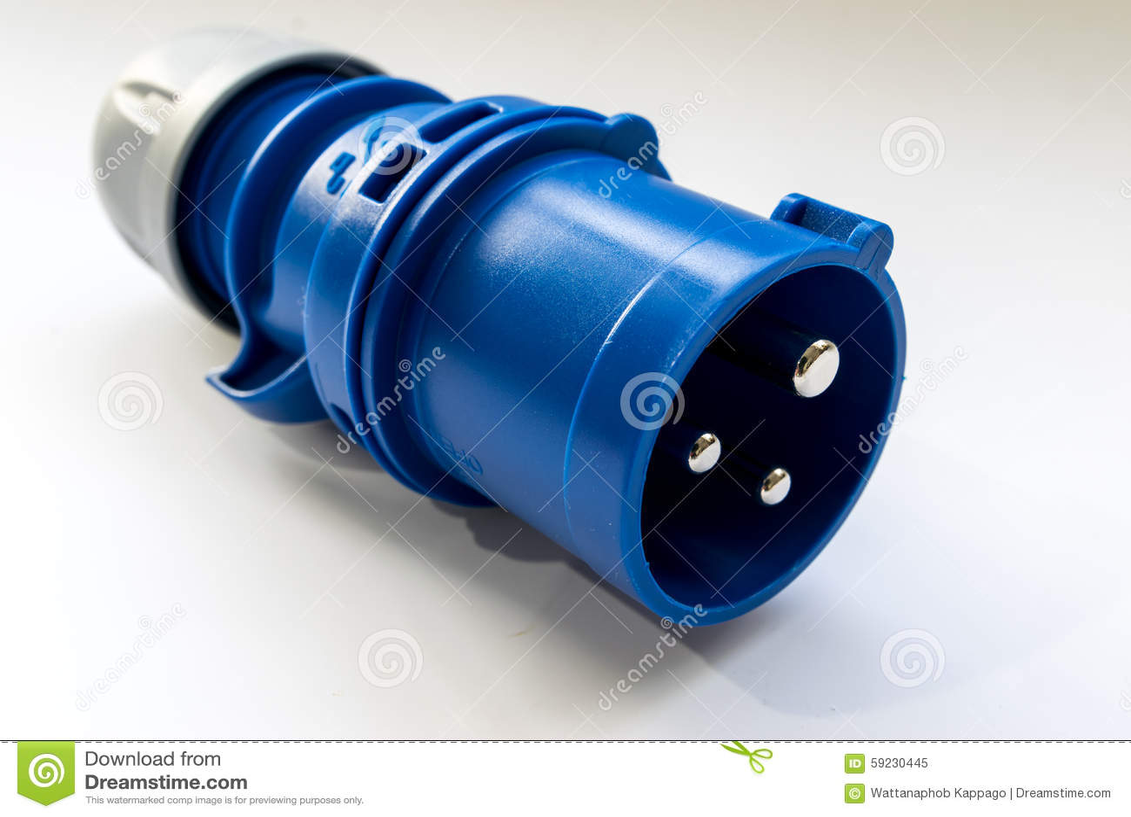 Download Conector Industrial Del Poder Imagen de archivo - Imagen de blanco, contactos: 59230445