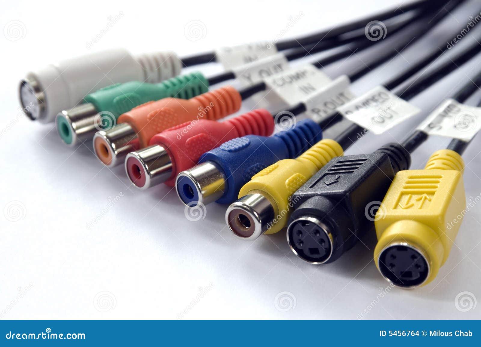 Conectores audio e video