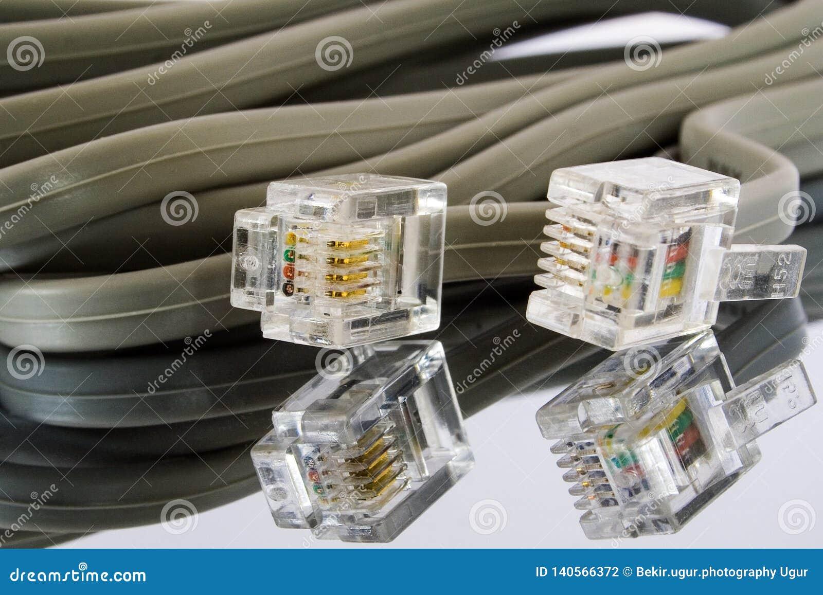 Conectores de cabo ethernet