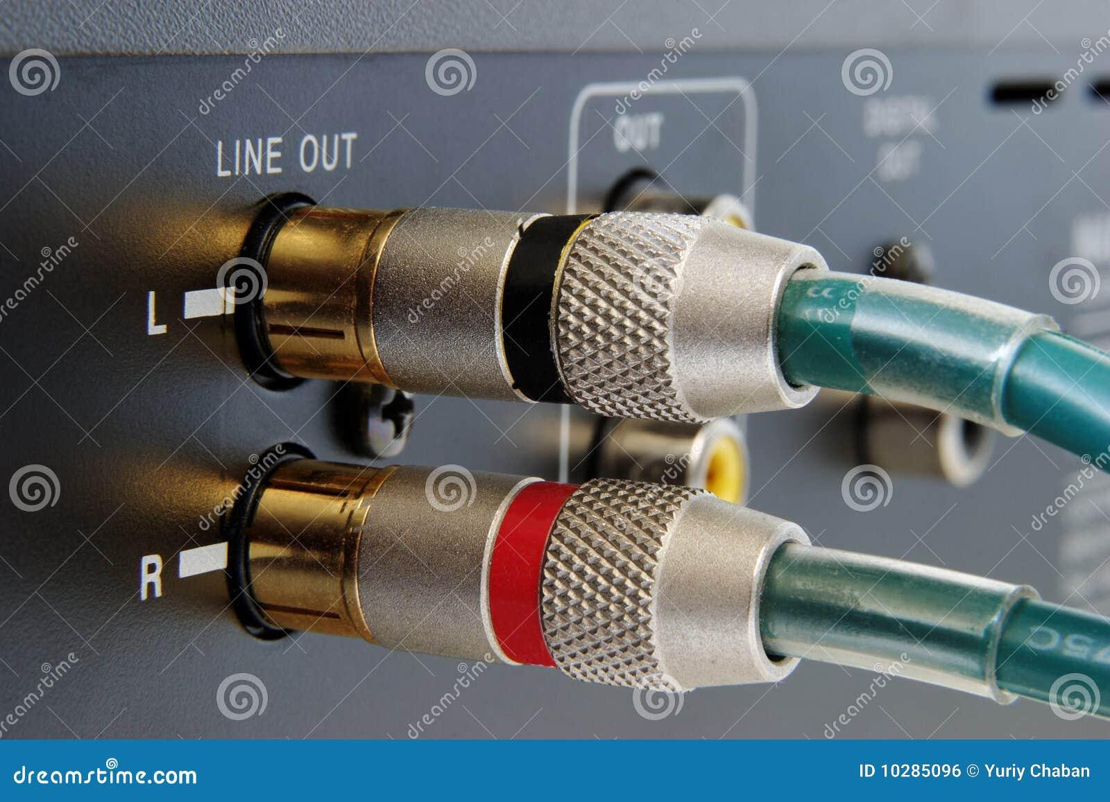 Conectores de oro del RCA
