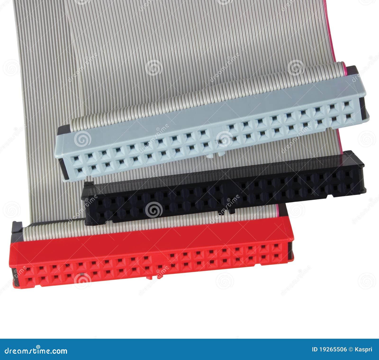 Conectores e cabos de fita para o dri duro do computador