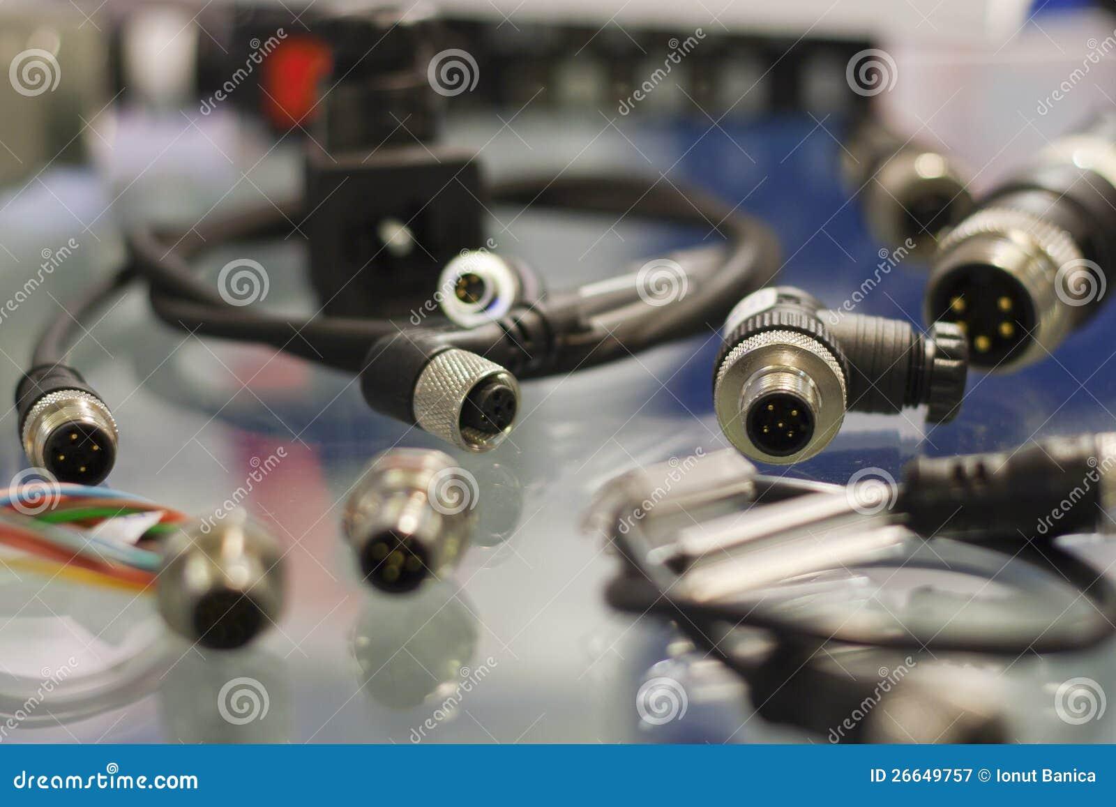 Conectores industriales del sensor