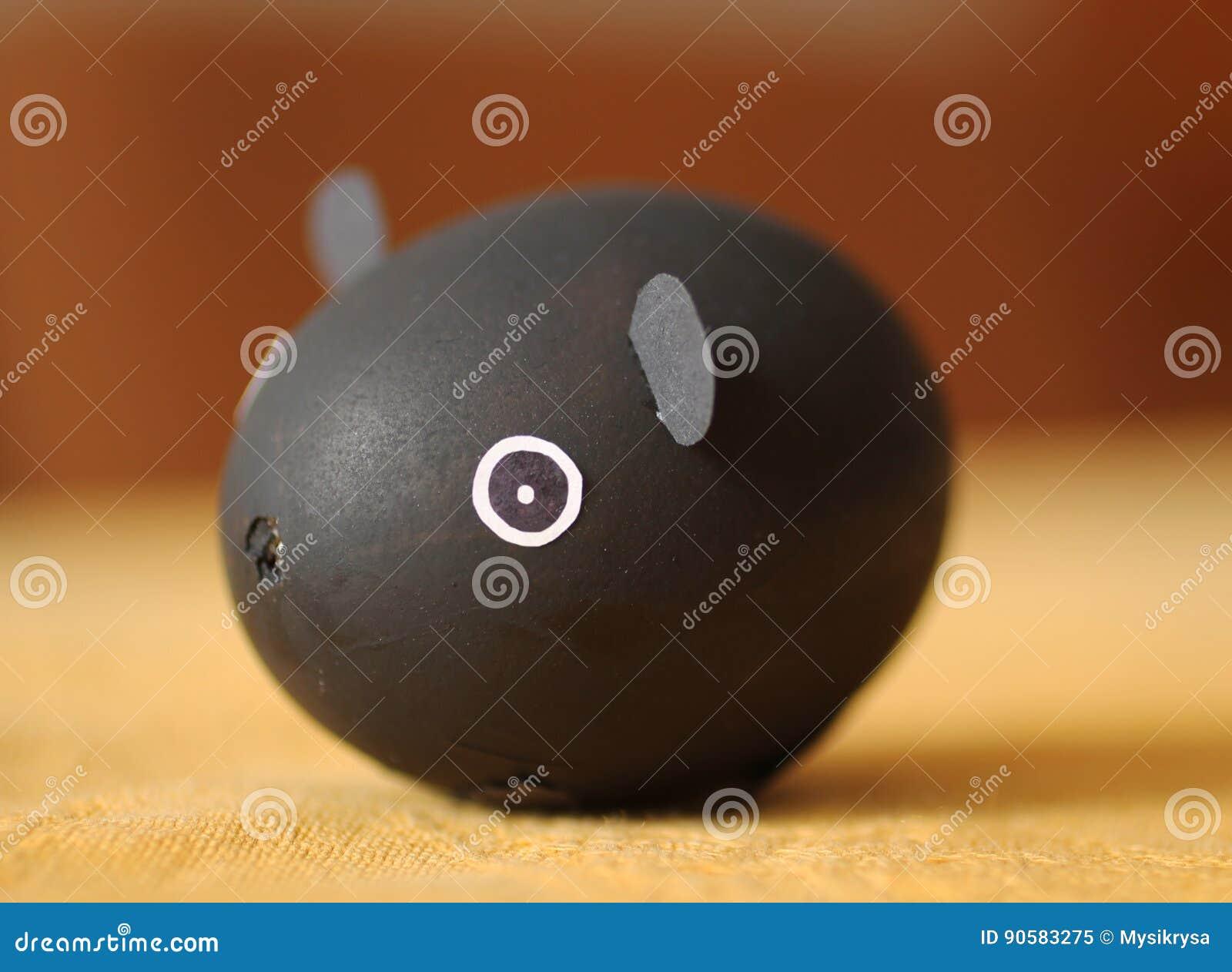 Conejillo de Indias hecho del huevo