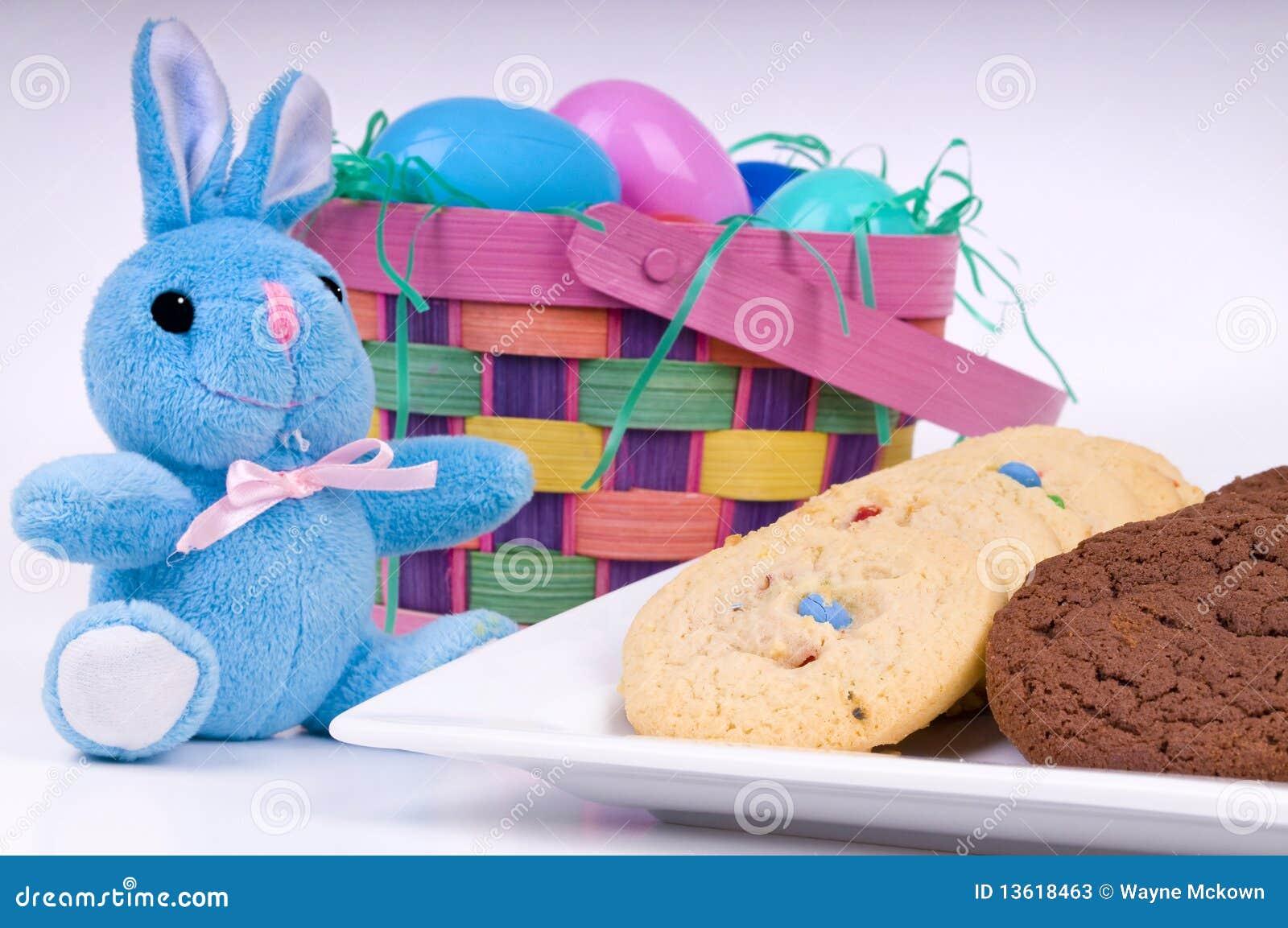 Conejito y galletas de pascua