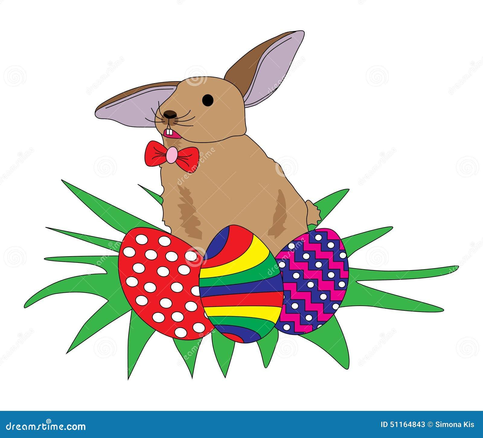 Conejo con los huevos de Pascua