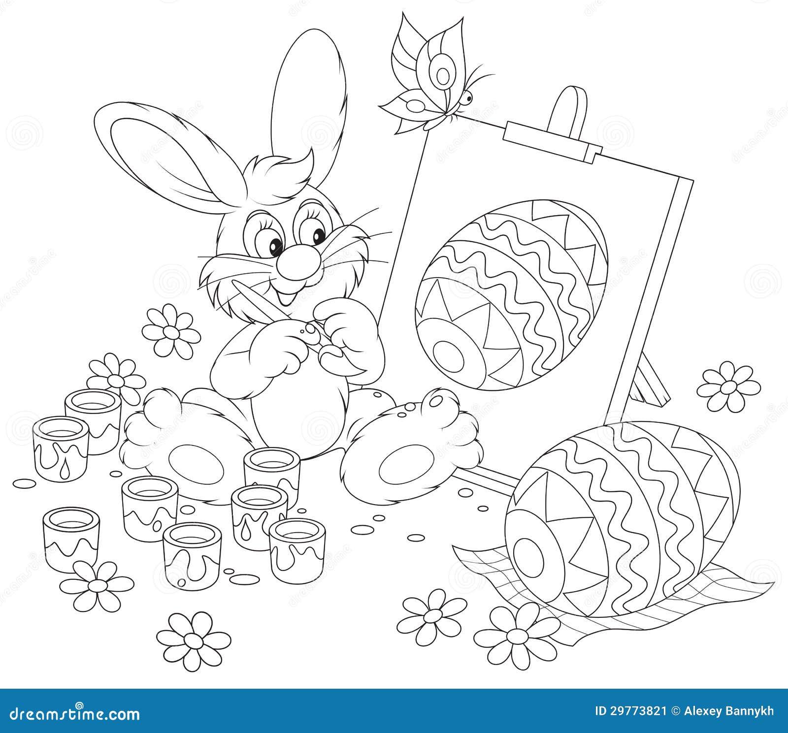 Artista Del Conejito De Pascua Ilustración del Vector - Ilustración ...