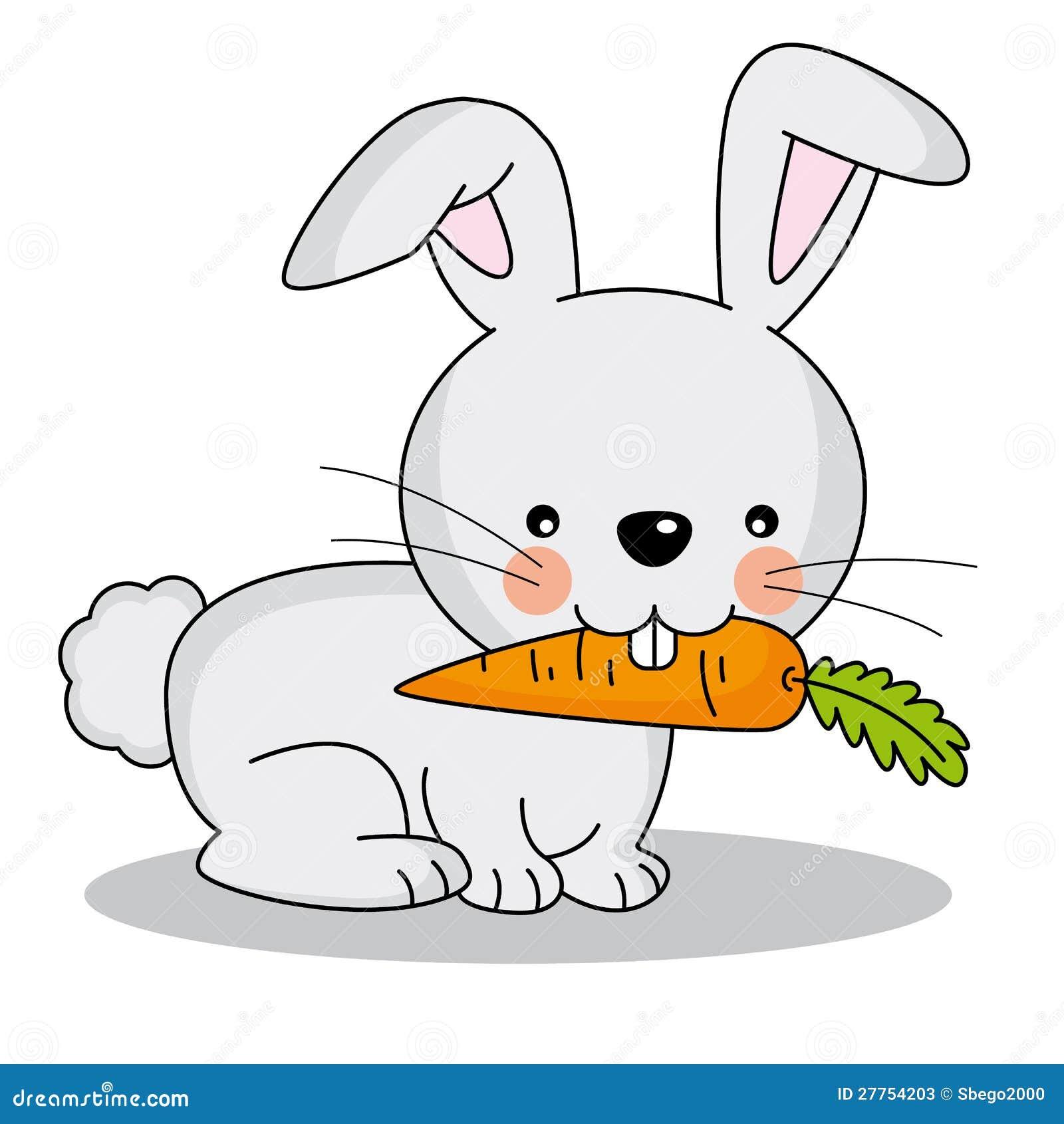 Conejo que come una zanahoria