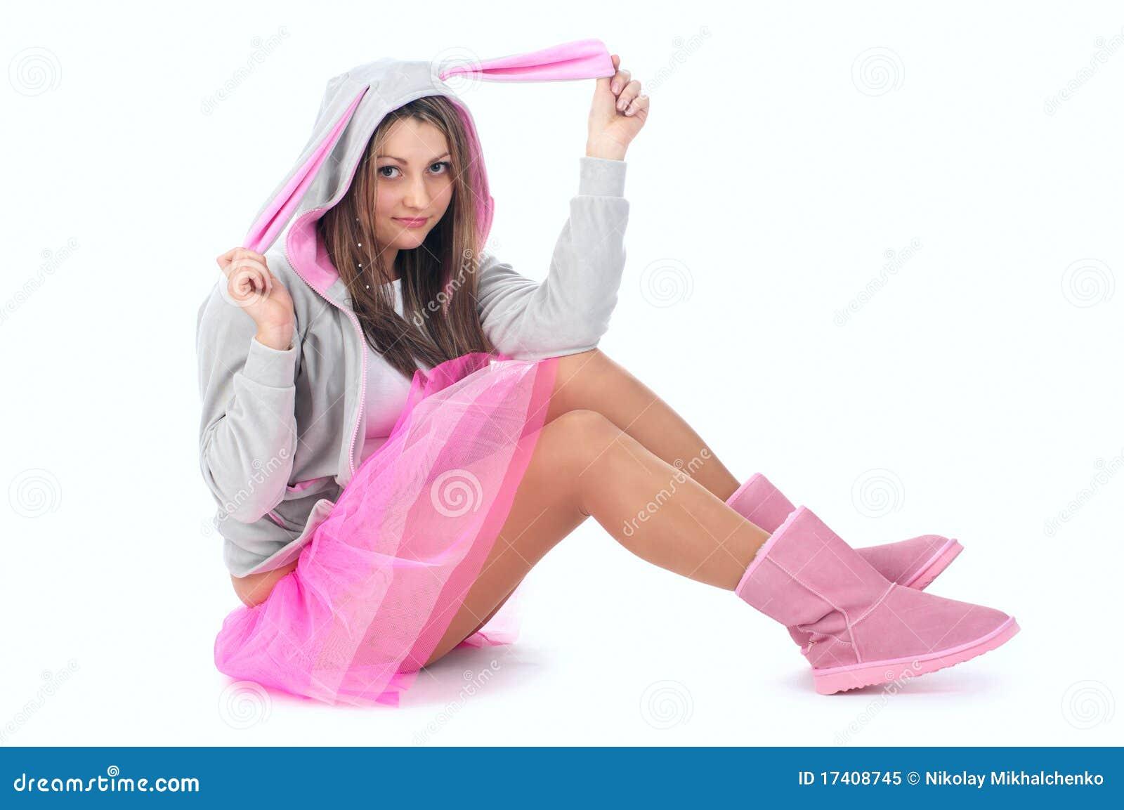 Linda joven vestido sexual