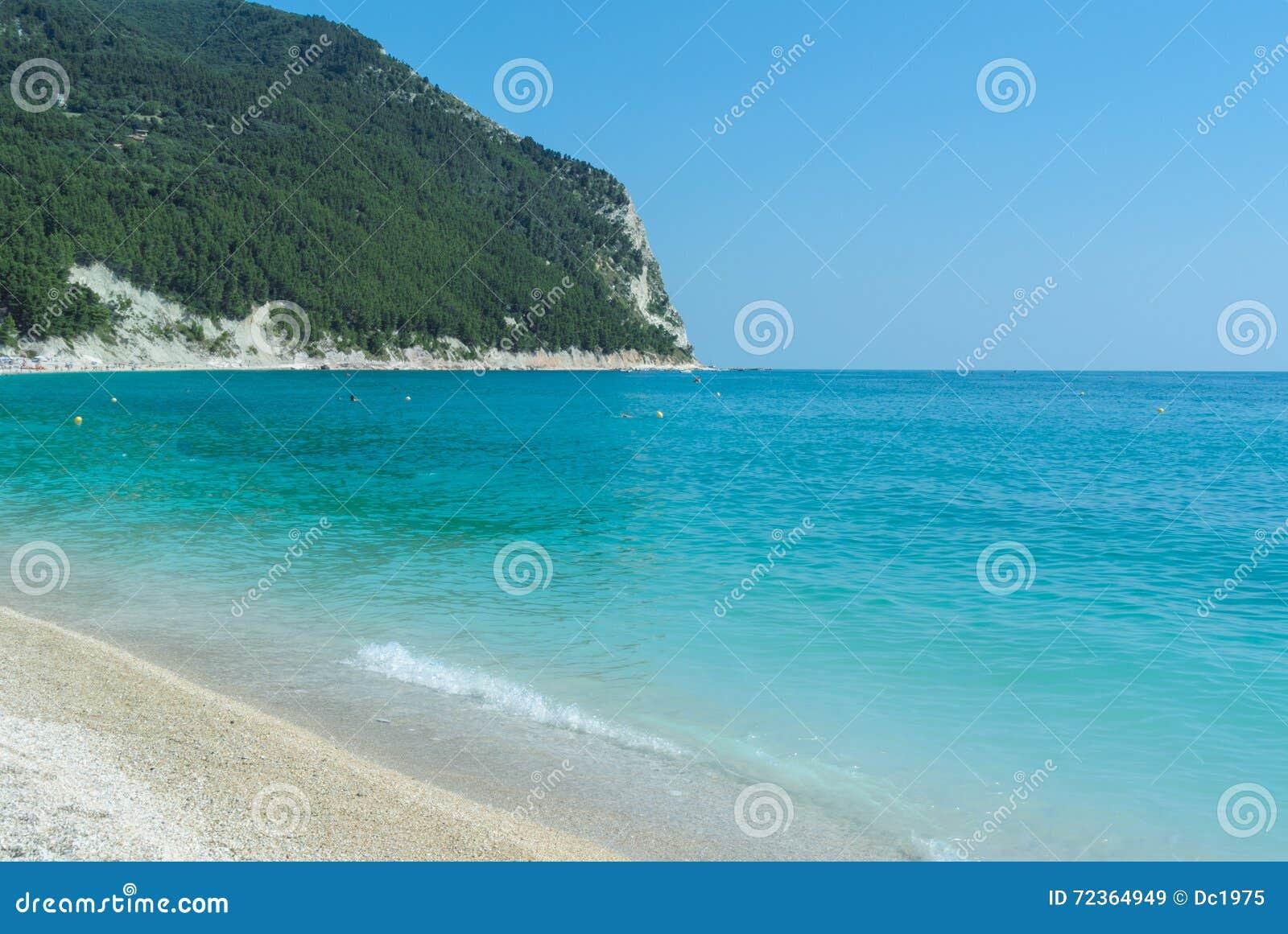 Conero海滩在意大利