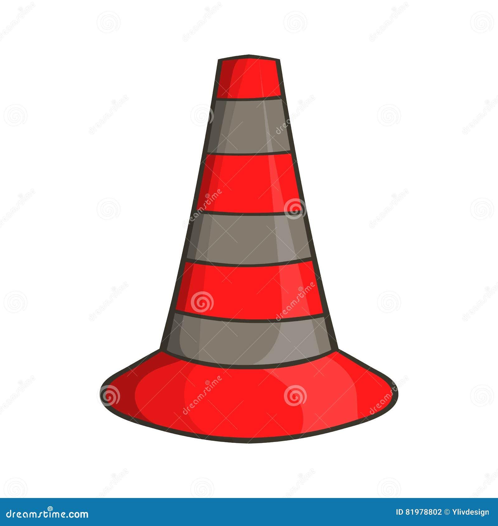 cones ícone da segurança estilo dos desenhos animados ilustração do