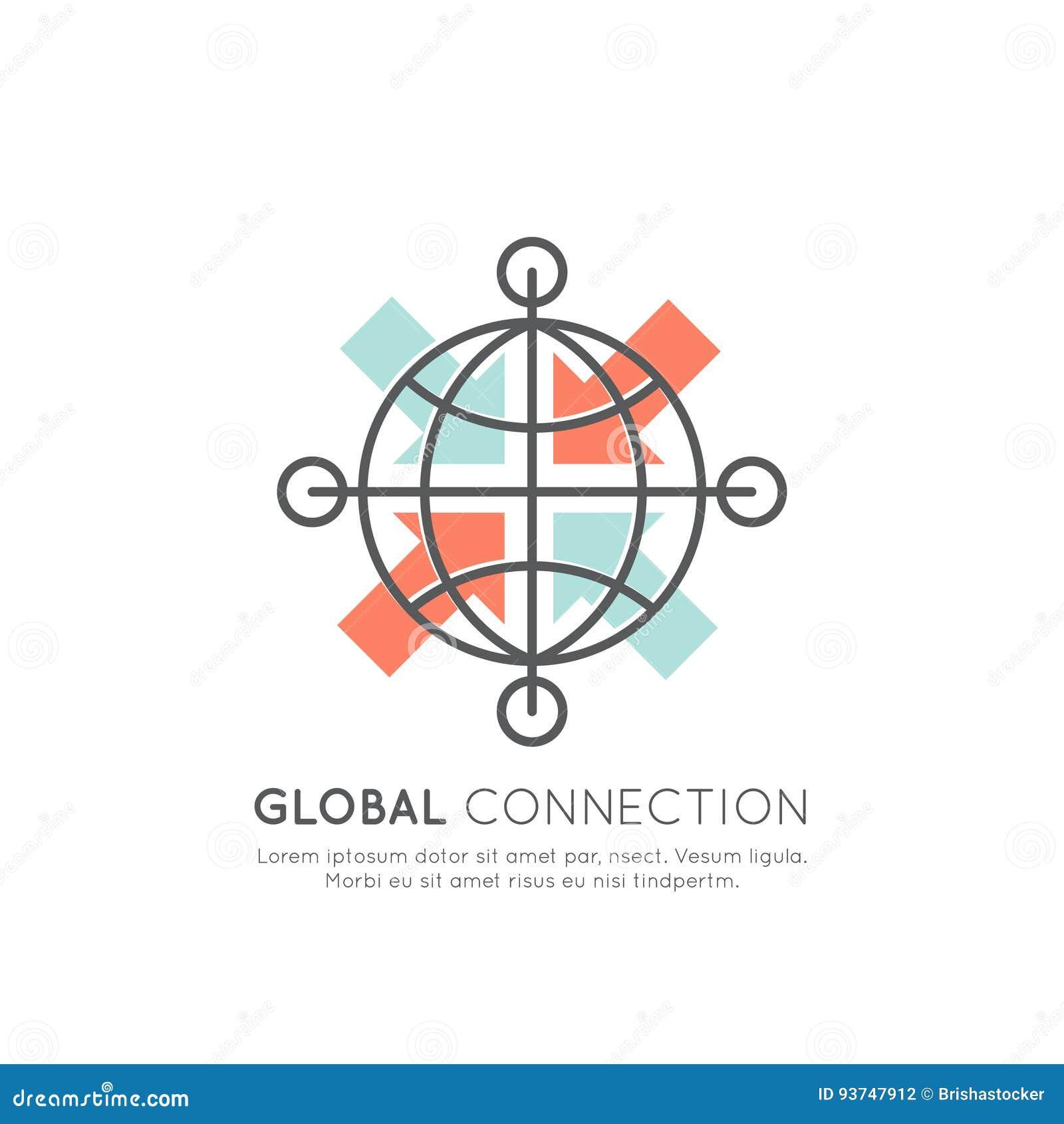 Conexão de rede segura global através do world wide web, sincronização de transferência de dados, objeto isolado