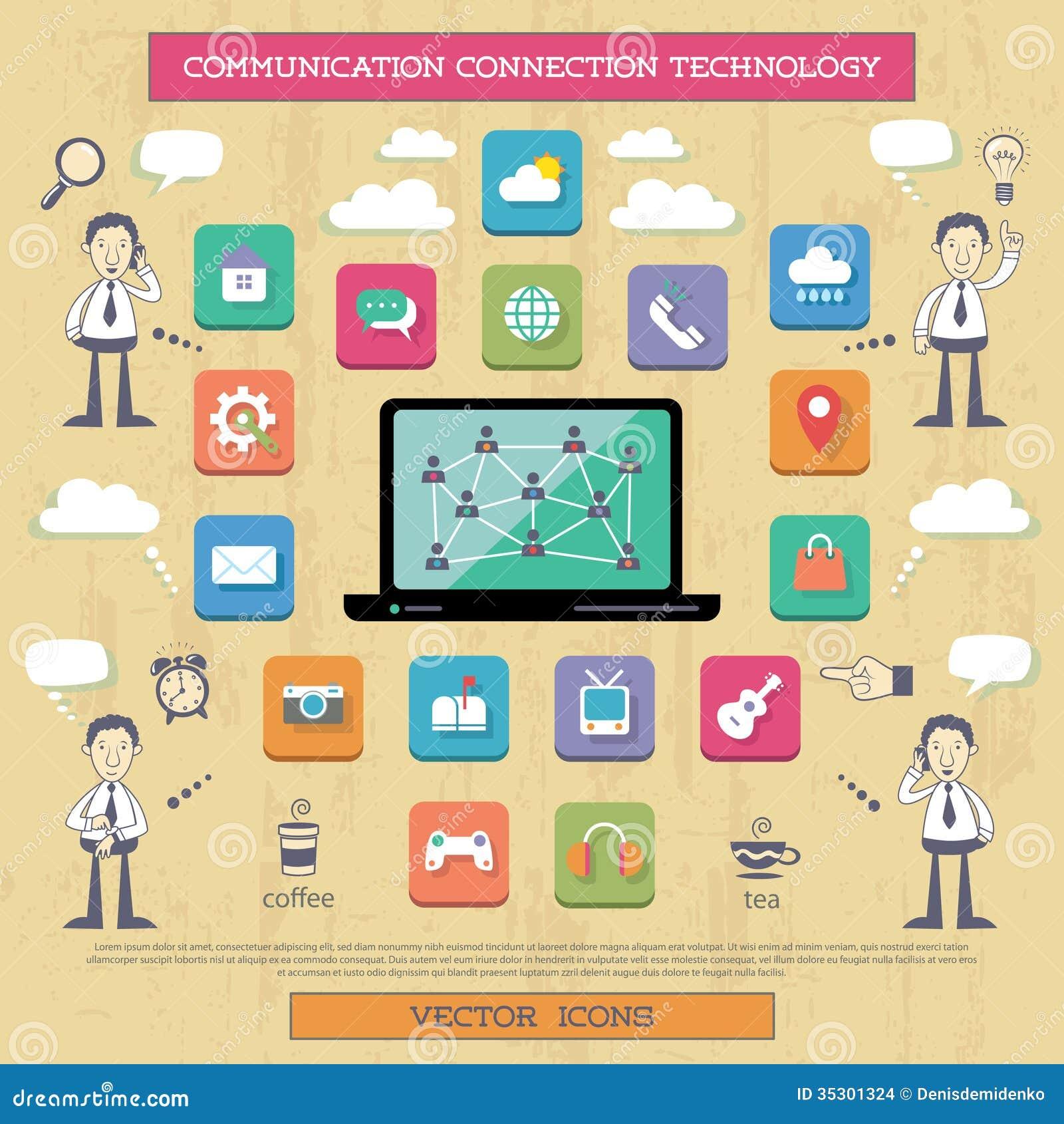 Conexão a Internet e comunicação.