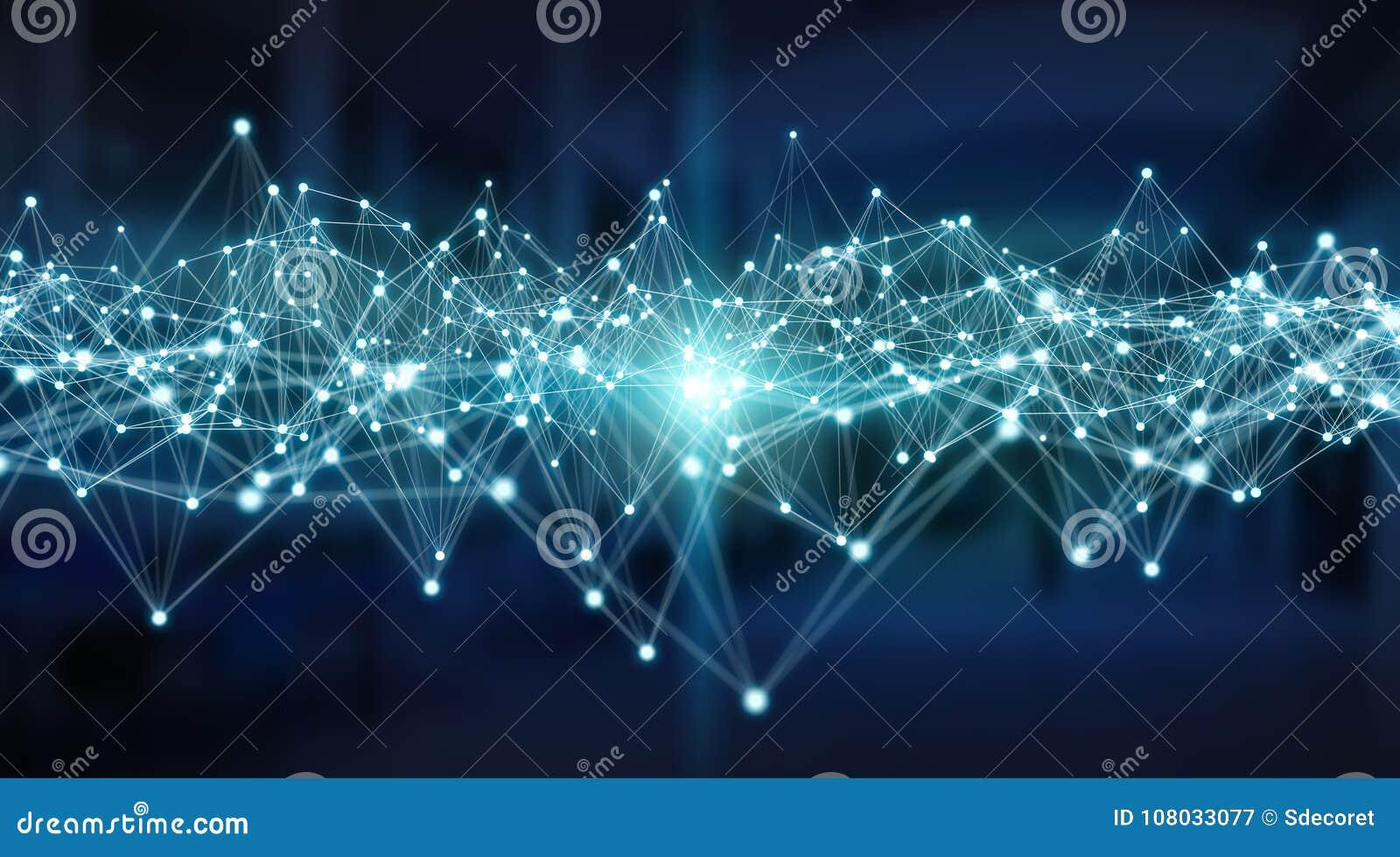 Conexões sistema e rendição das trocas de dados 3D