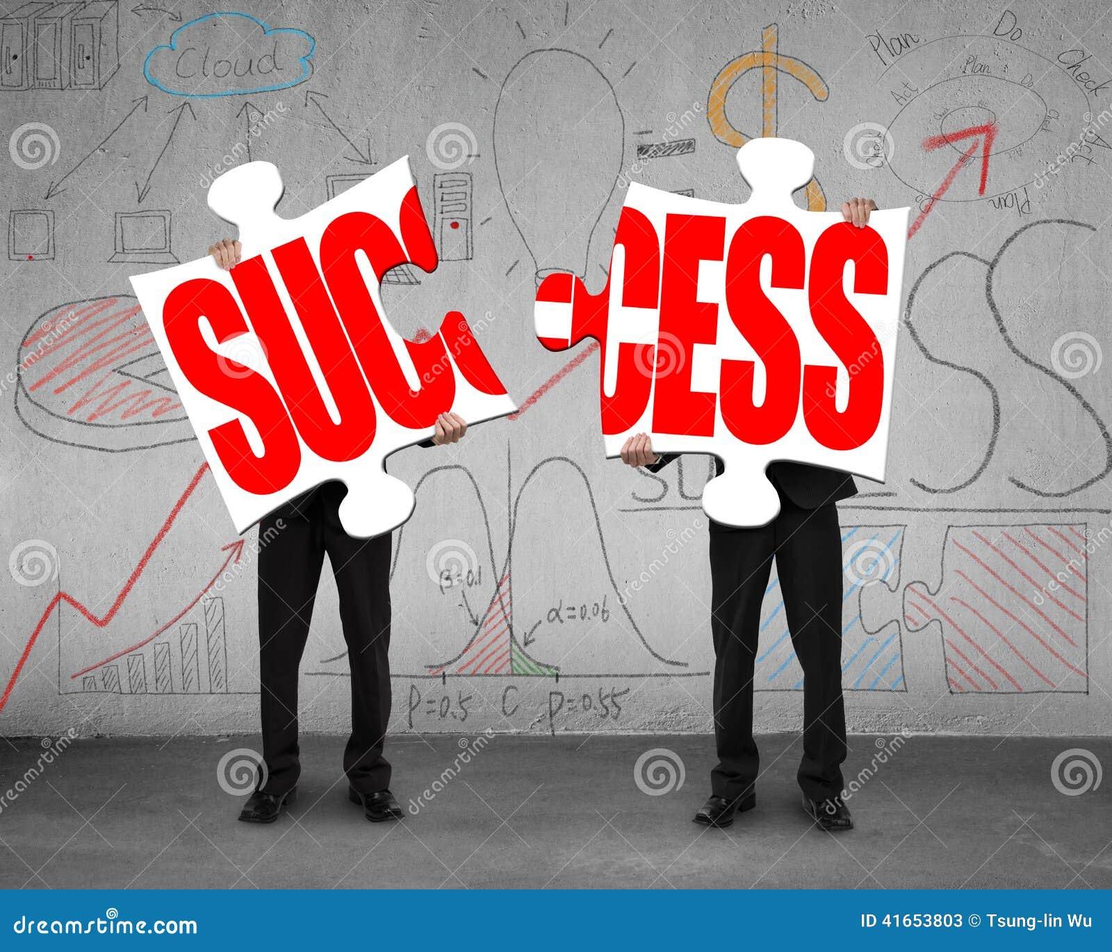 Conexión de dos rompecabezas para el éxito