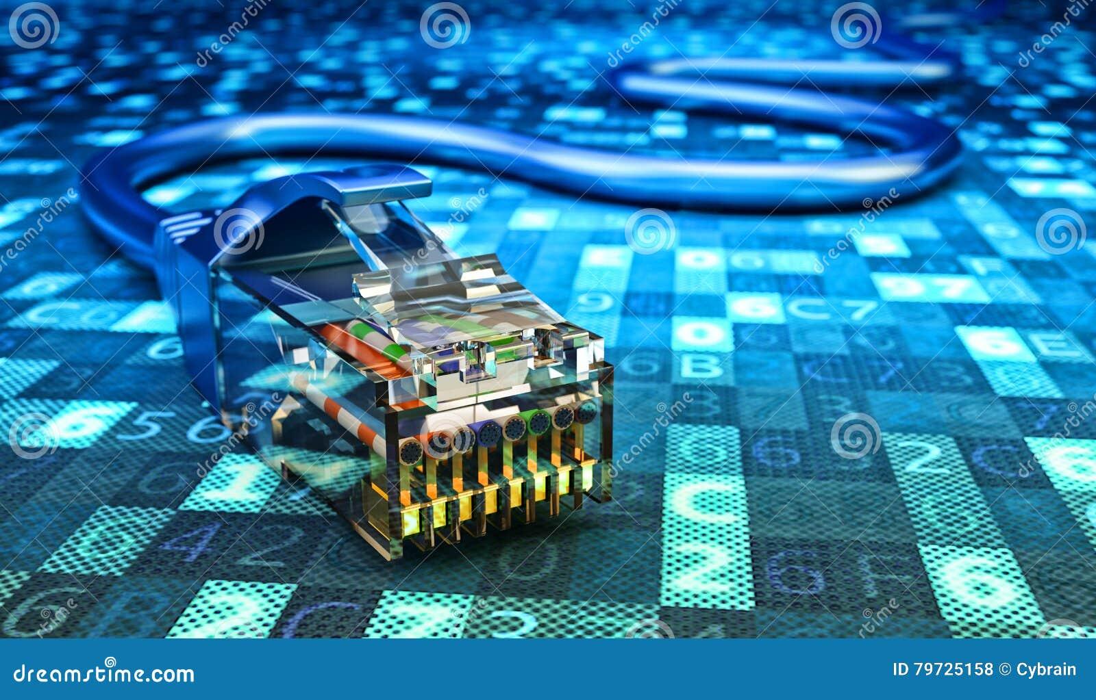 Conexión de red, comunicación de Internet y concepto de la informática