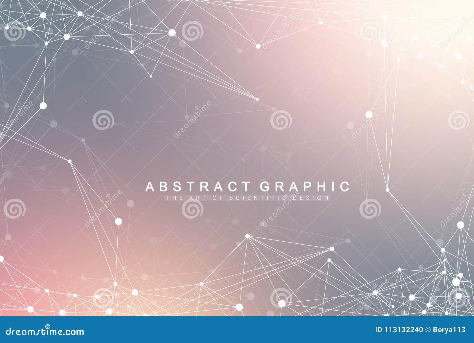 Conexión de red global Red y fondo grande de la visualización de los datos Negocio global futurista Vector