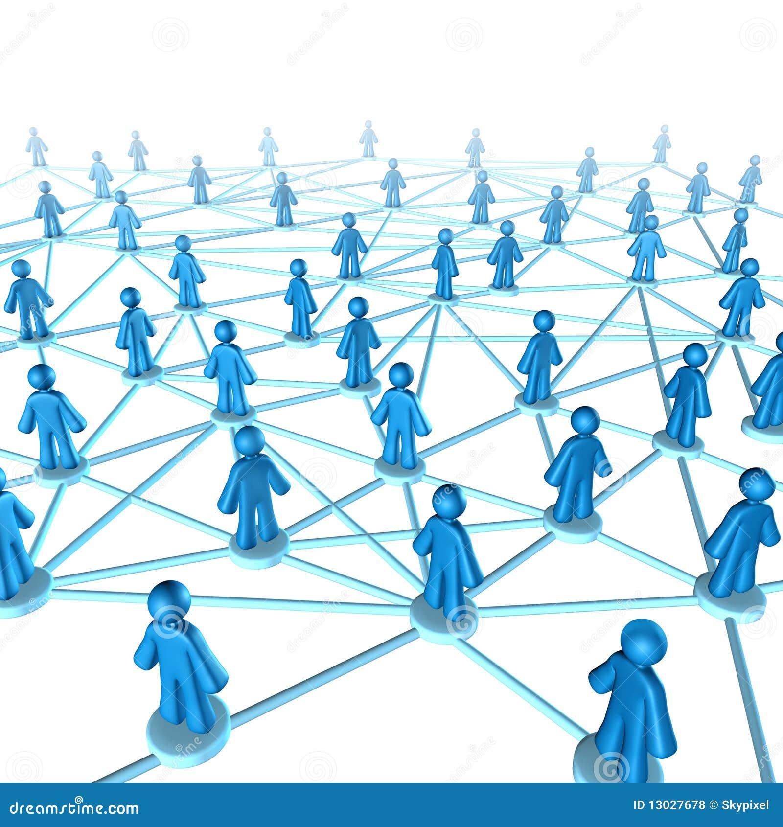 Conexión del comunication del establecimiento de una red
