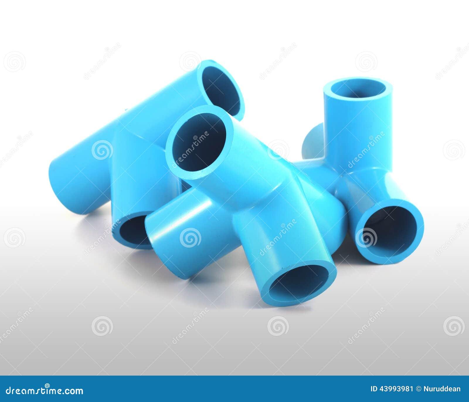 Conex o de tubula o azul do pvc foto de stock imagem for Casa para herramientas de pvc
