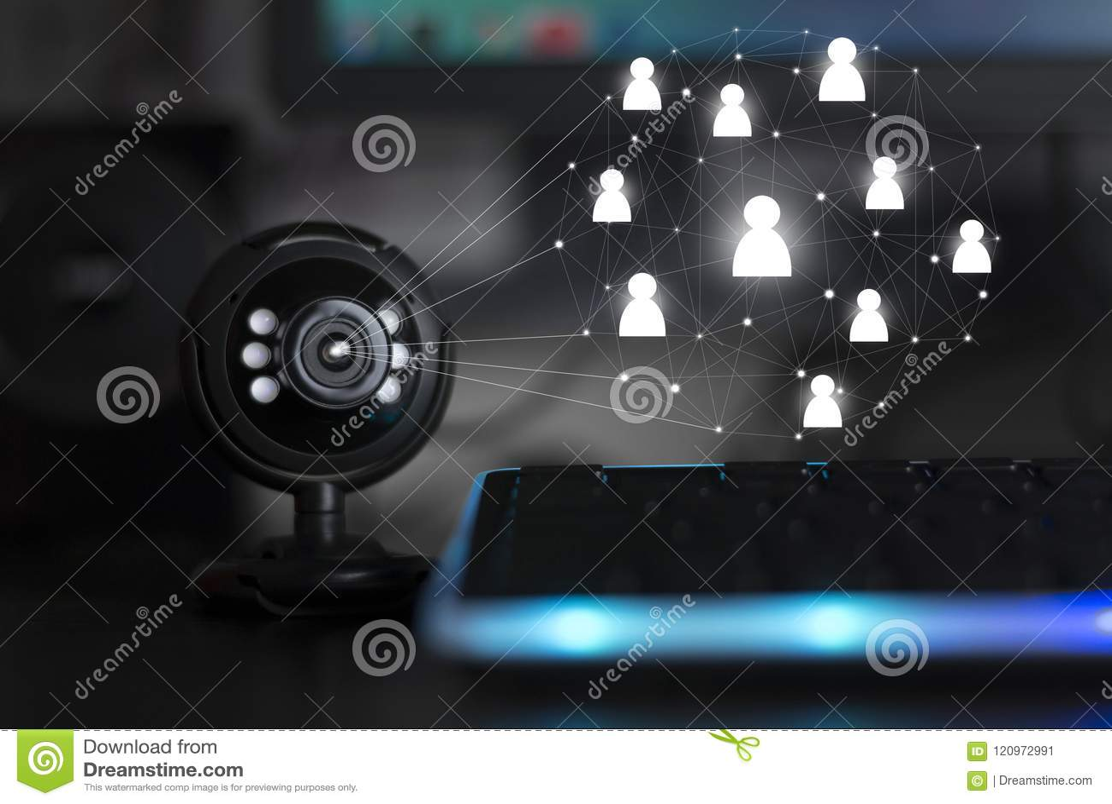 Conférence téléphonique webinar de caméra web d Usb