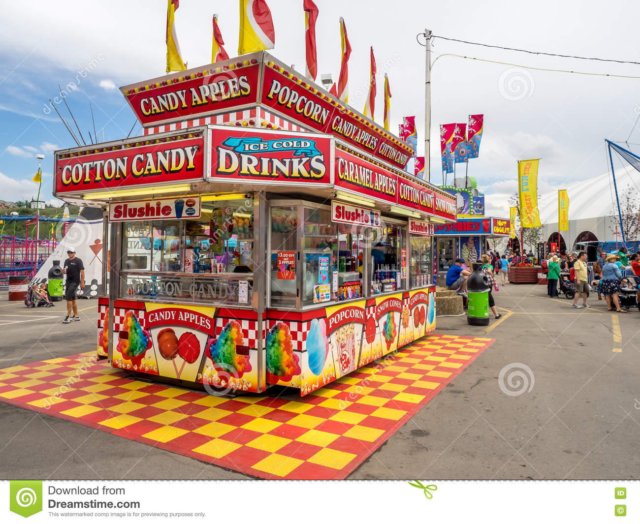 Confection Booth At The The Calgary Stampede Editorial