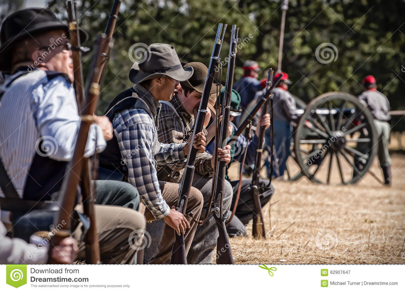 Confederate Battle Line editorial photography  Image of