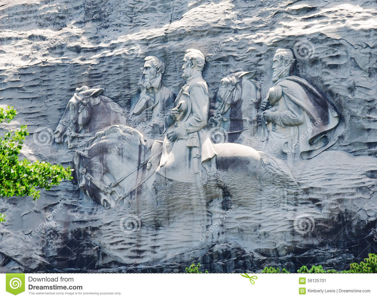 Confederate memorial carving at stone mountain georgia