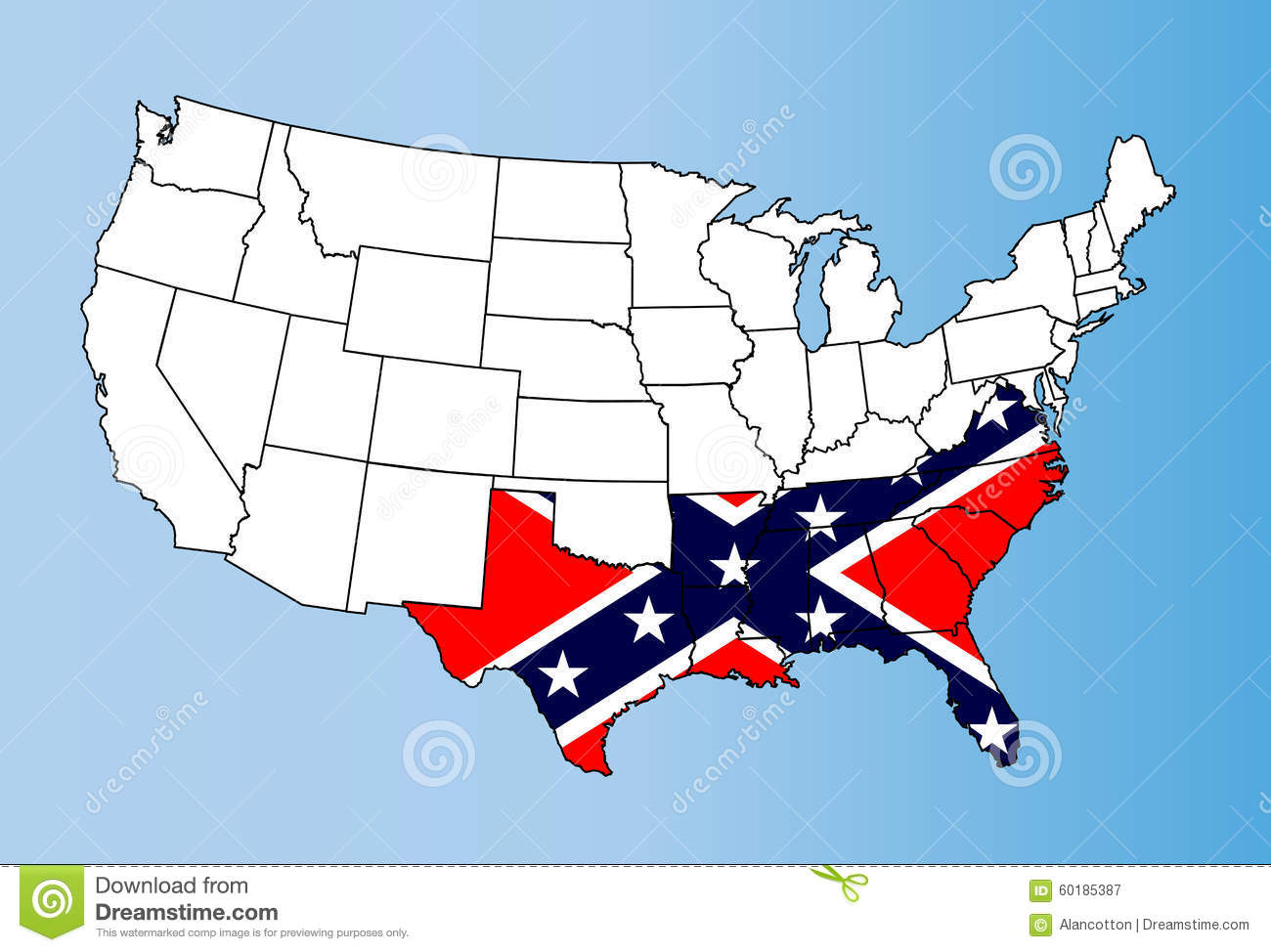 confederate states stock illustration illustration of